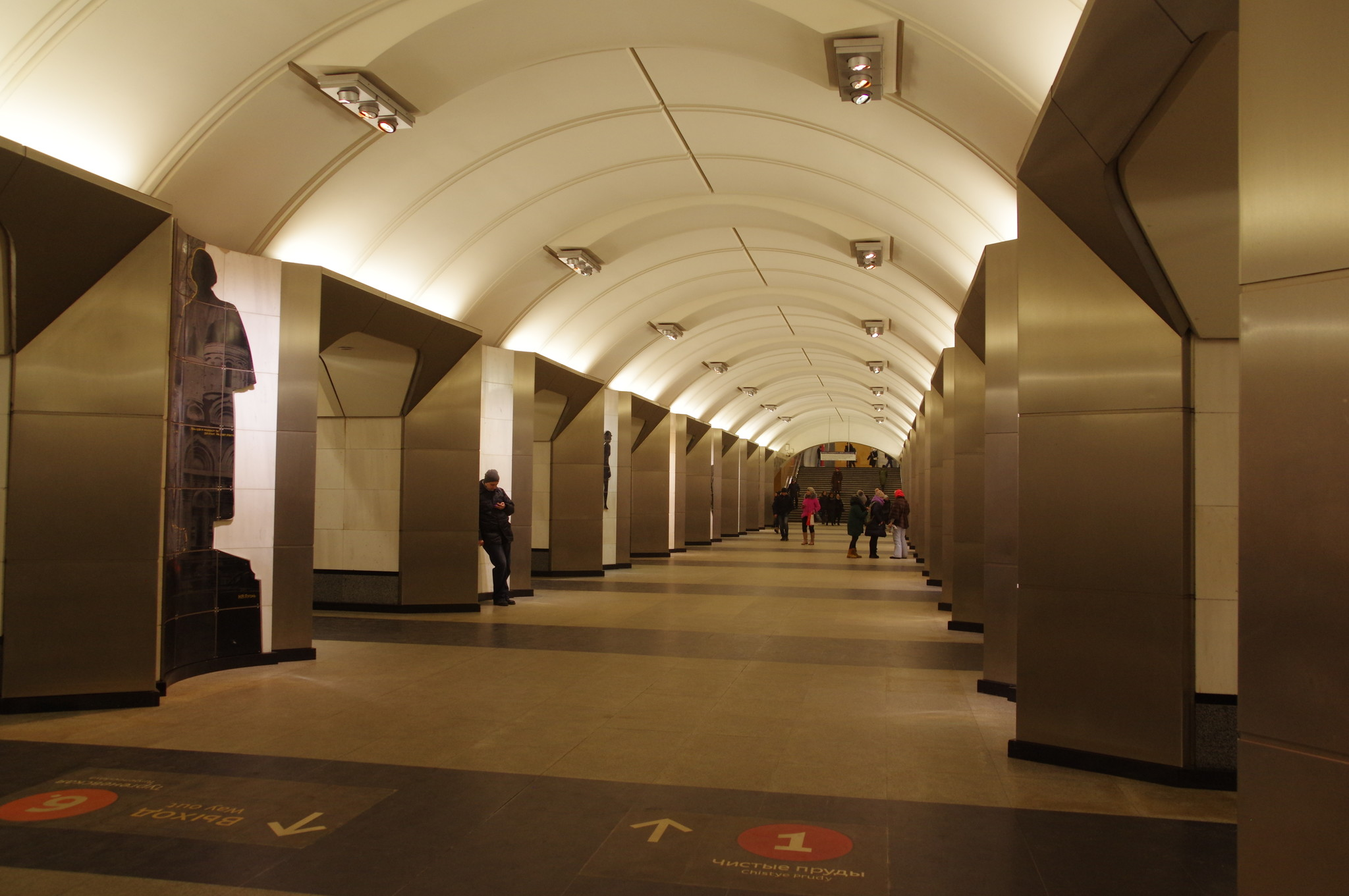 Станция «Сретенский бульвар» Люблинской-Дмитровской линии Московского метрополитена