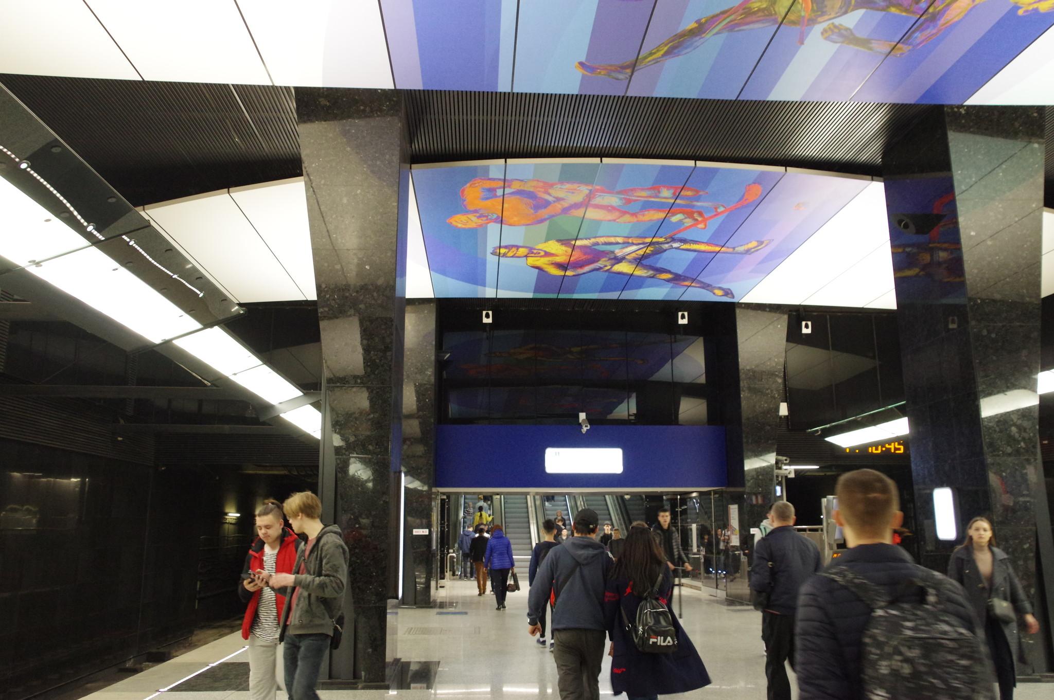 Станция «ЦСКА» Большой кольцевой линии Московского метрополитена