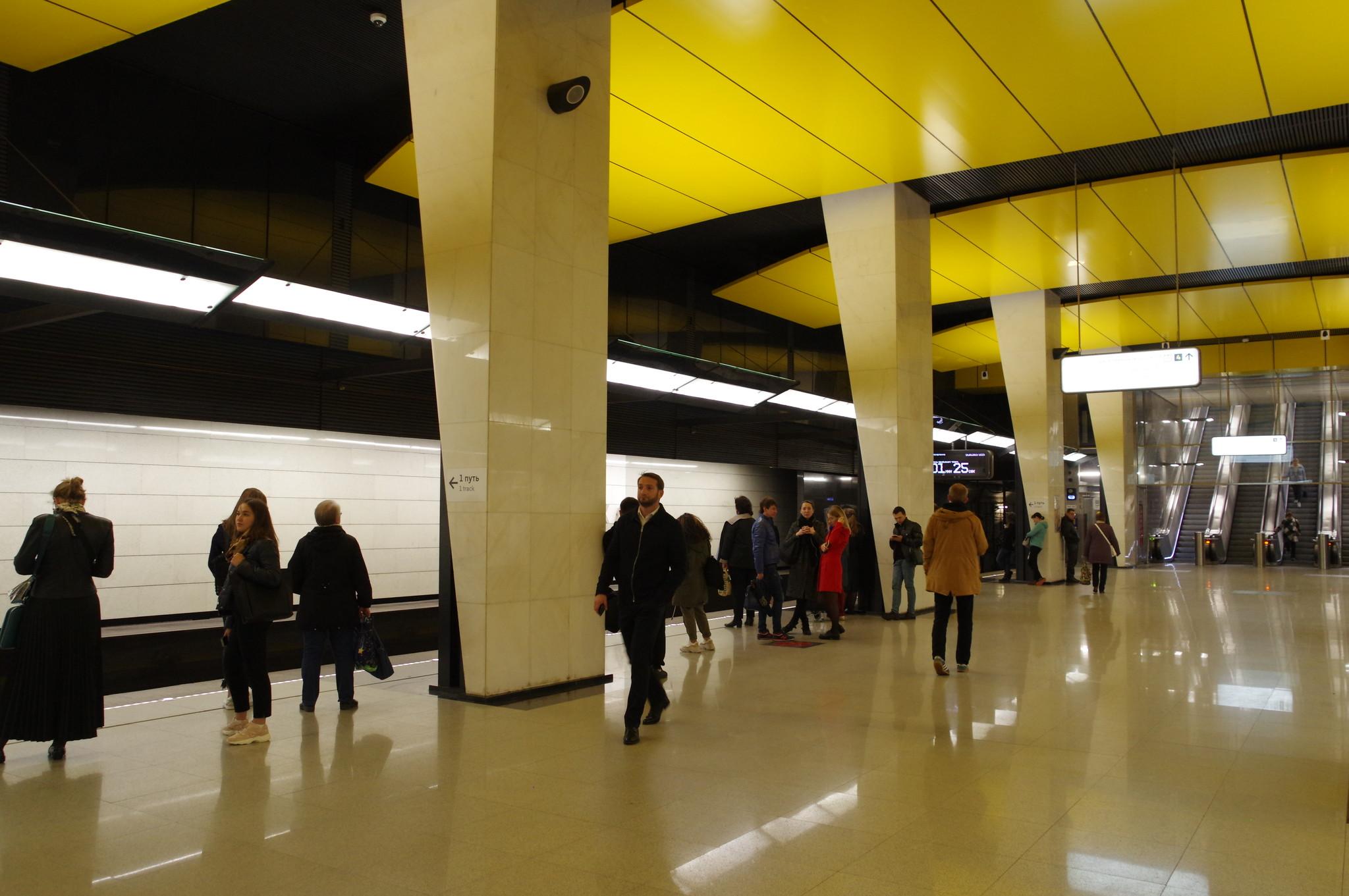 Станция «Шелепиха» Большой кольцевой линии Московского метрополитена