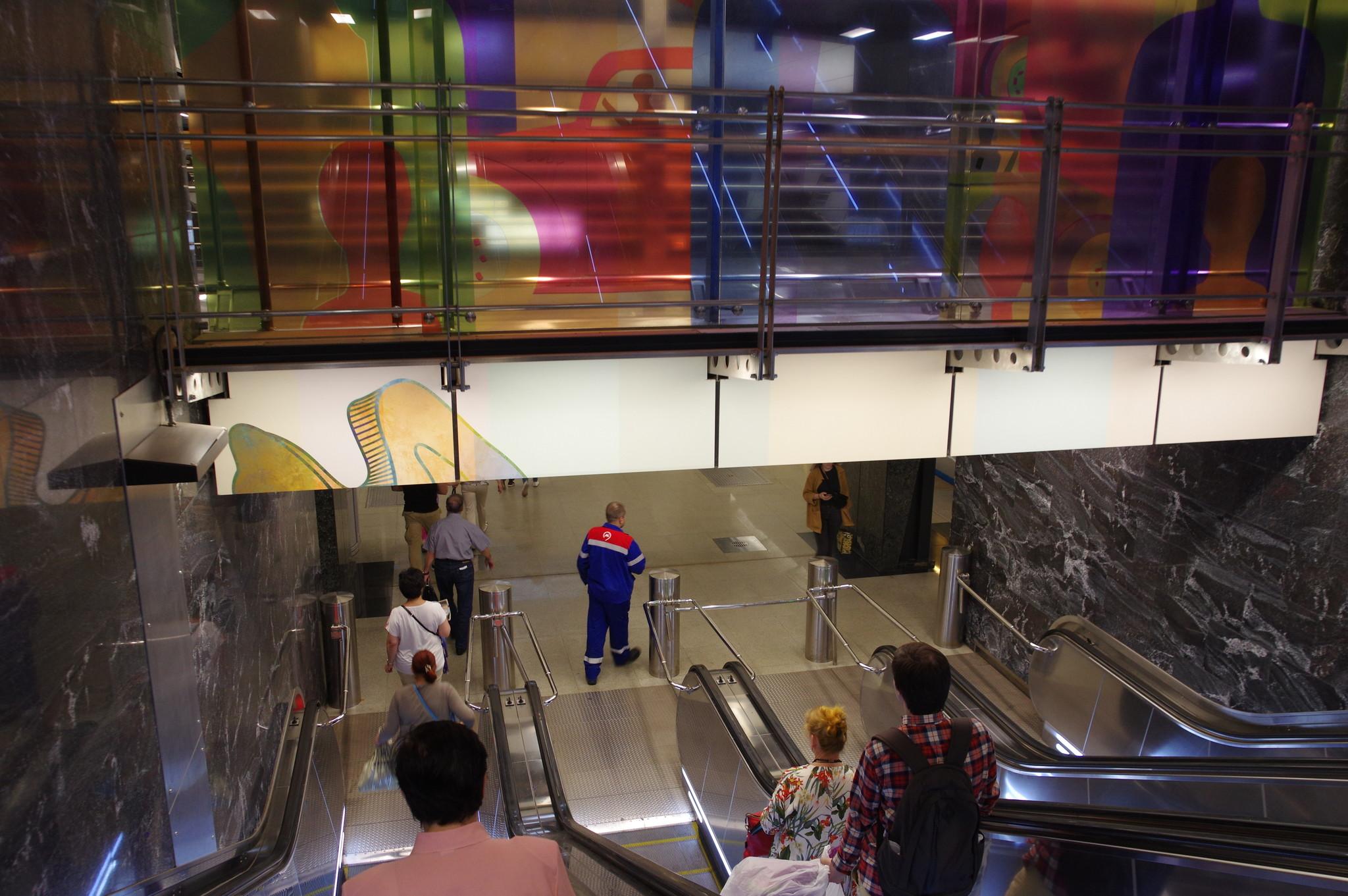 Станция «Петровский парк» Большой кольцевой линии Московского метрополитена