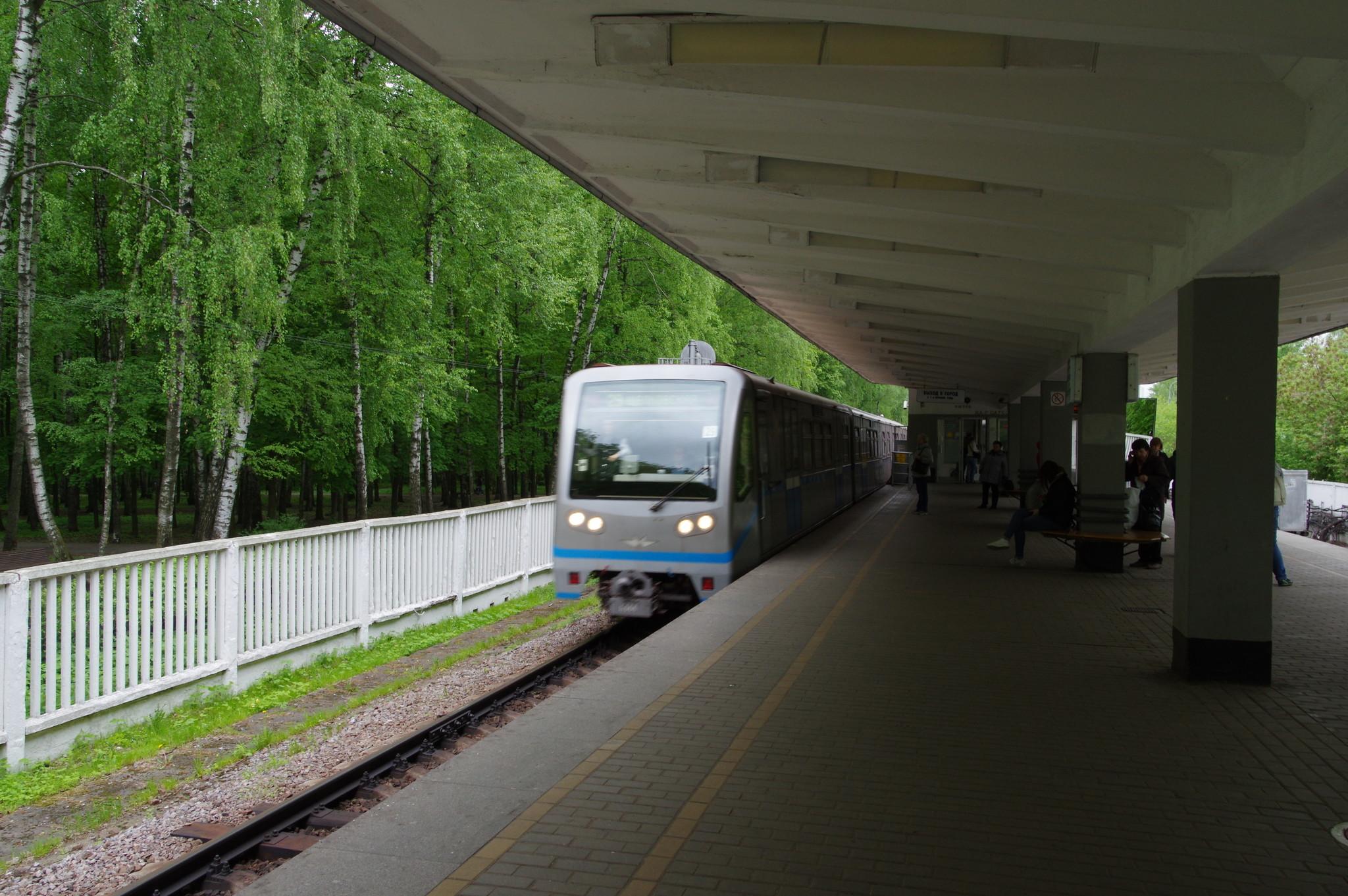 Электропоезд 81-740.1/741.1 на станции «Измайловская»