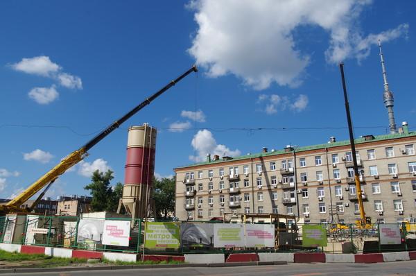 Строительство станции «Бутырская» на северном участке Люблинско-Дмитровской («салатовой») линии Московского метрополитена