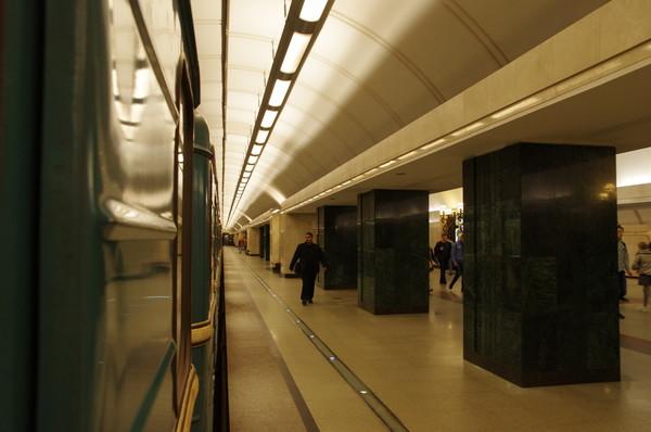 На станции «Трубная» Люблинско-Дмитровской линии Московского метрополитена