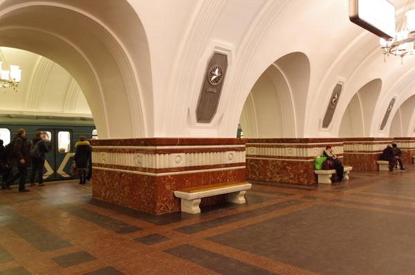 Станция «Фрунзенская» Сокольнической линии Московского метрополитена