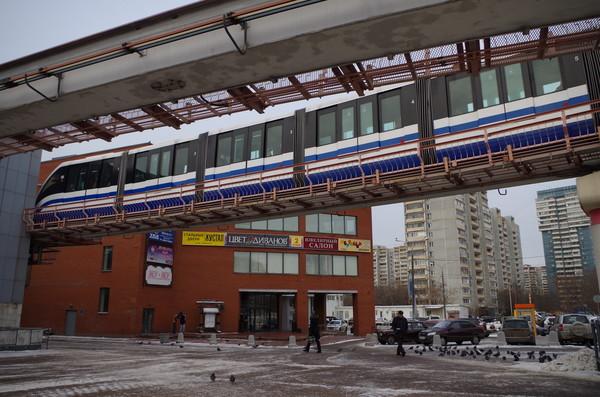 Станция «Тимирязевская» Московской монорельсовой транспортной системы