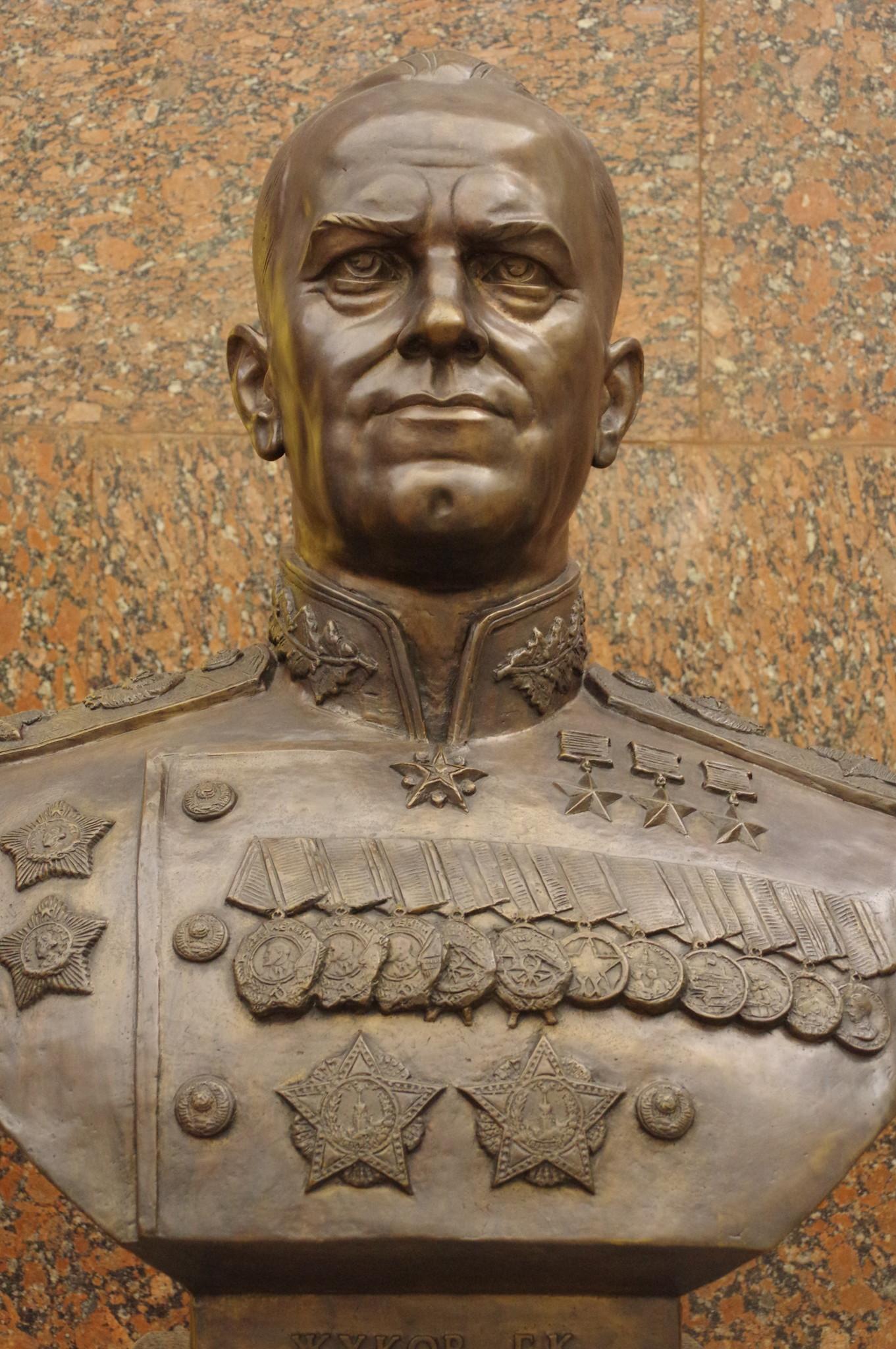 Бюст маршала Советского Союза Георгия Константиновича Жукова в Музее Победы