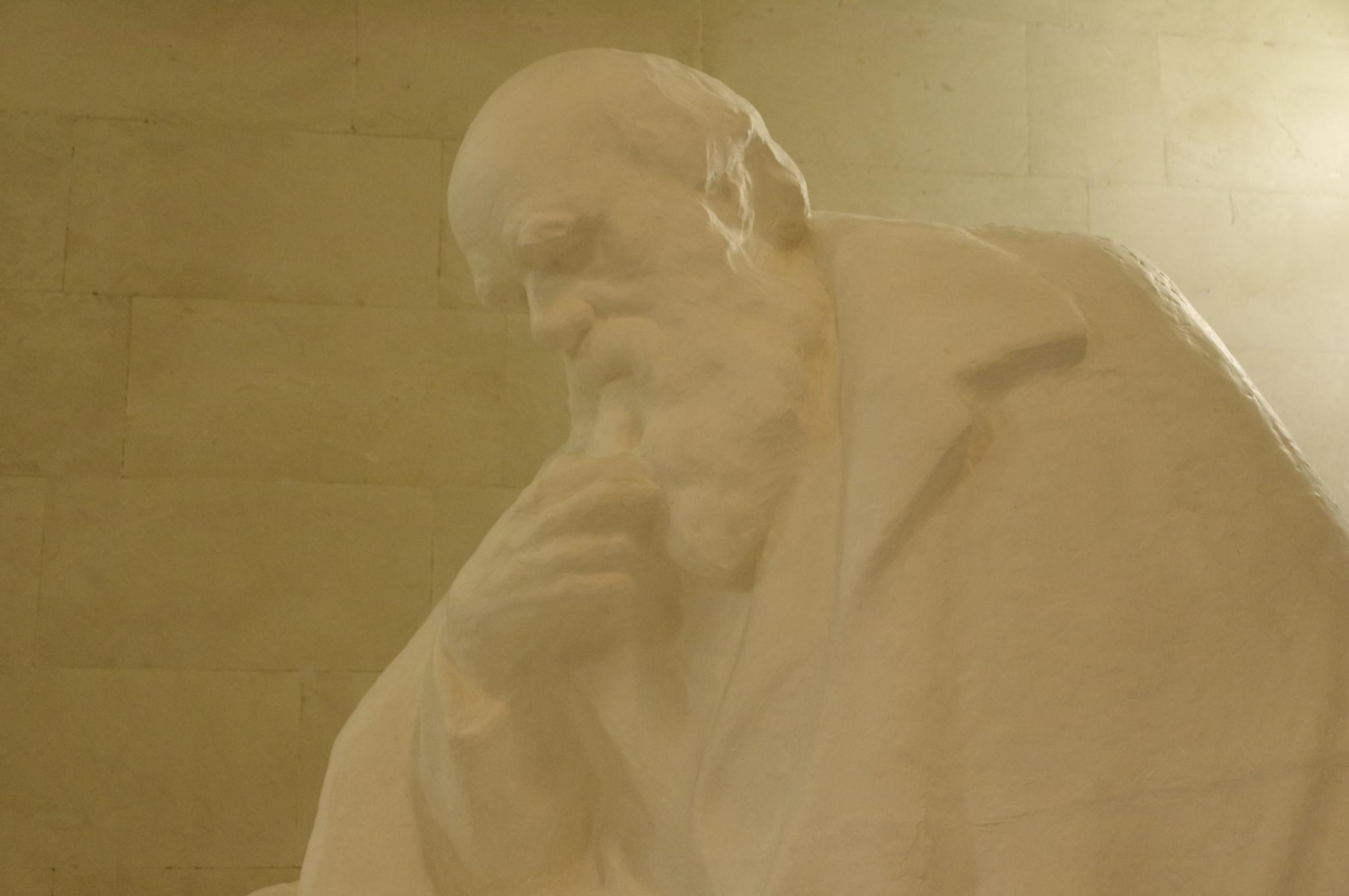 Скульптура Дарвина в Государственном Дарвиновском музее