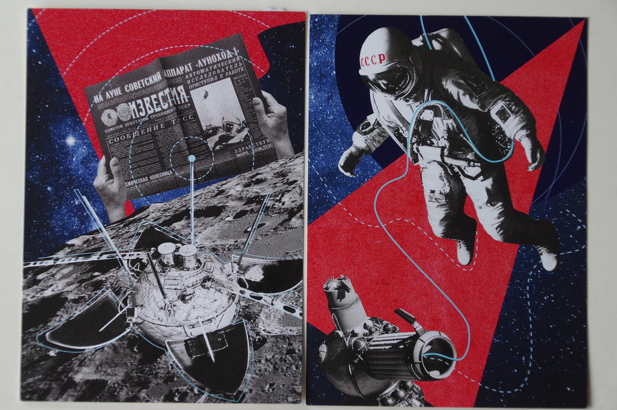 Акция «Покоряй космос с нами» в Музее космонавтики 16 августа 2019 года. Специальные открытки из лимитированного тиража