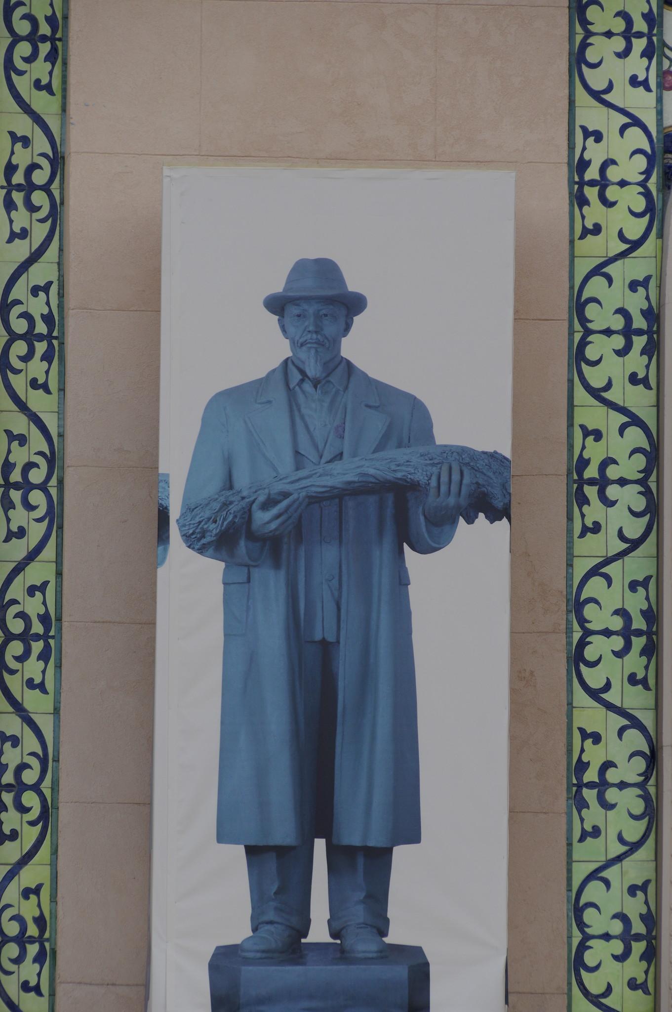 Здесь будет скульптура Героя Социалистического Труда Чиганака Берсиева