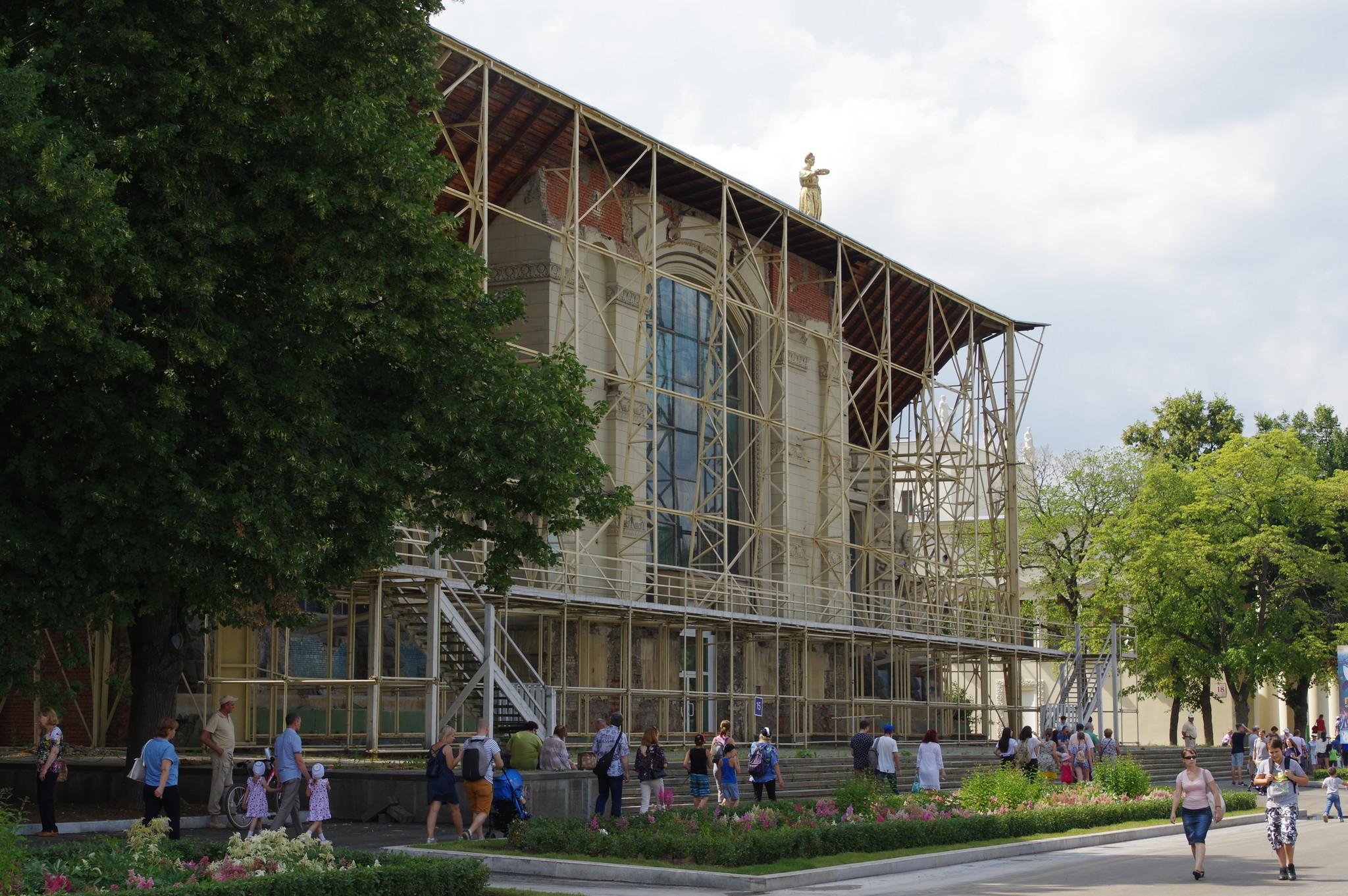 Реконструируемый павильон № 15 на ВДНХ