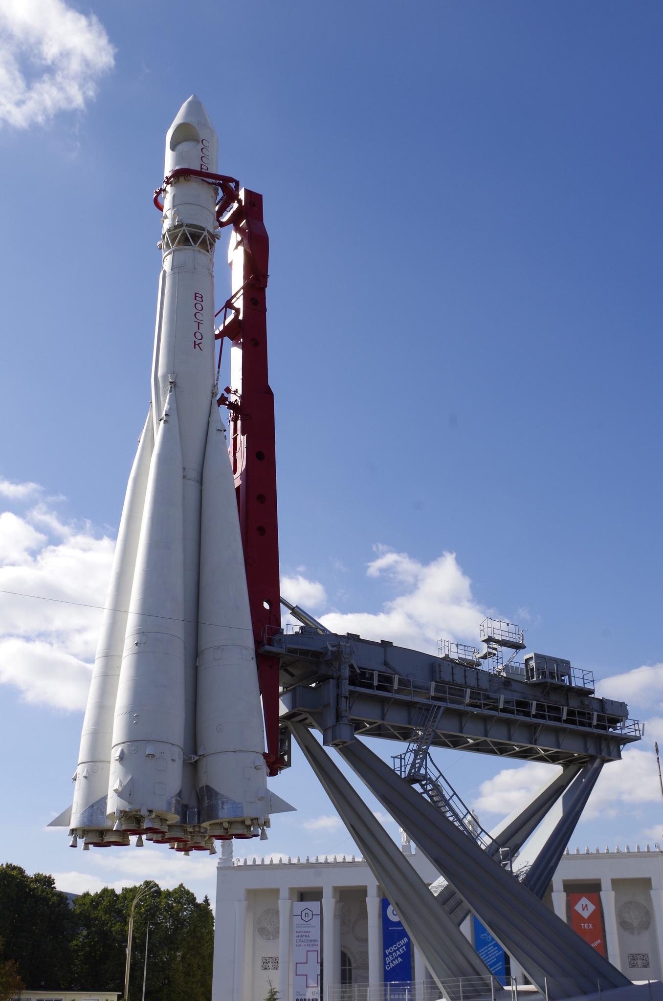 Макет ракеты-носителя «Восток» на ВДНХ