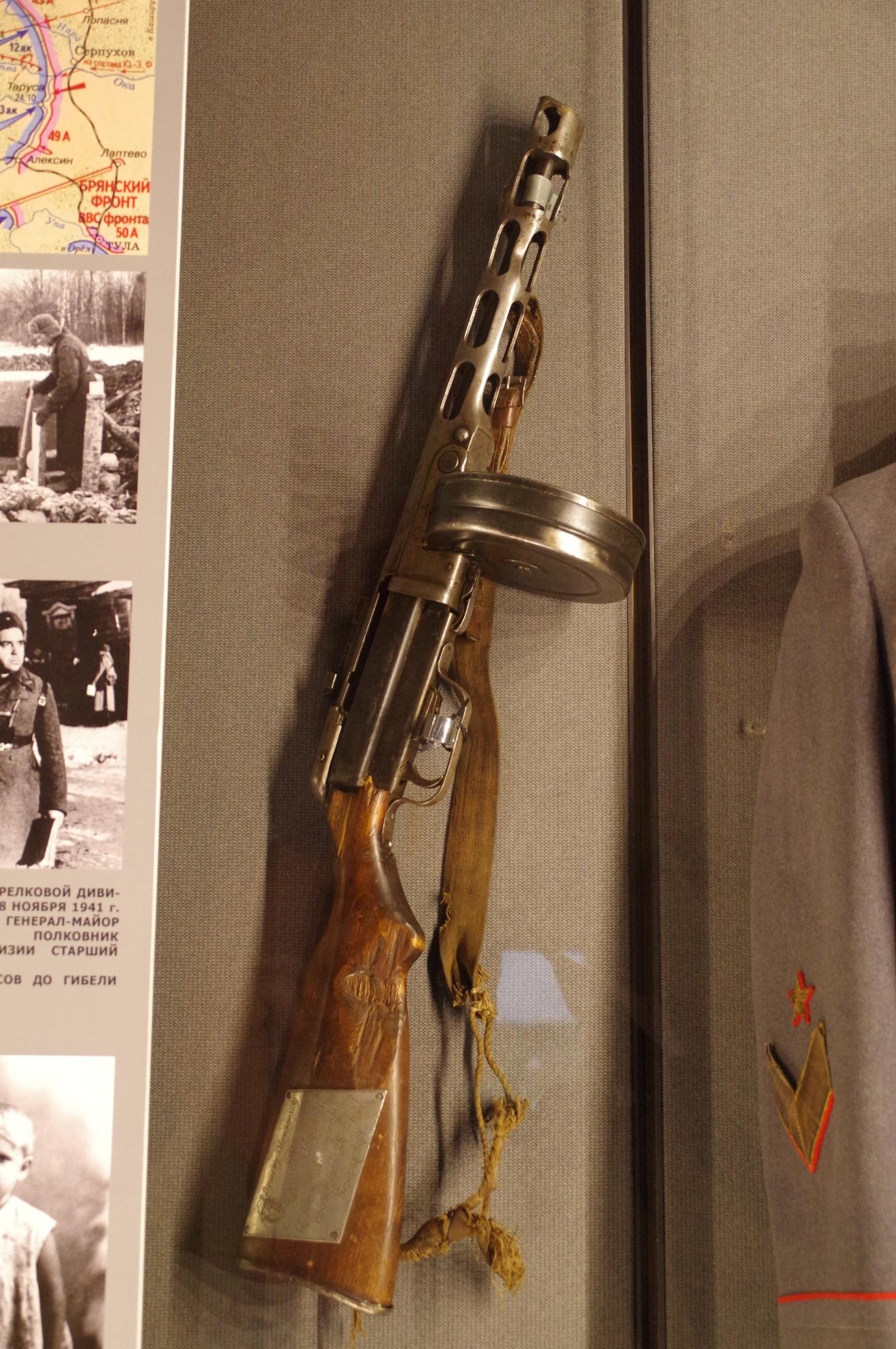 7,62 мм пистолет-пулемёт системы Шпагина (ППШ) обр. 1941 г. автоматчика 23-го гвардейского стрелкового полка 8-й гвардейской стрелковой дивизии А. Тагаева