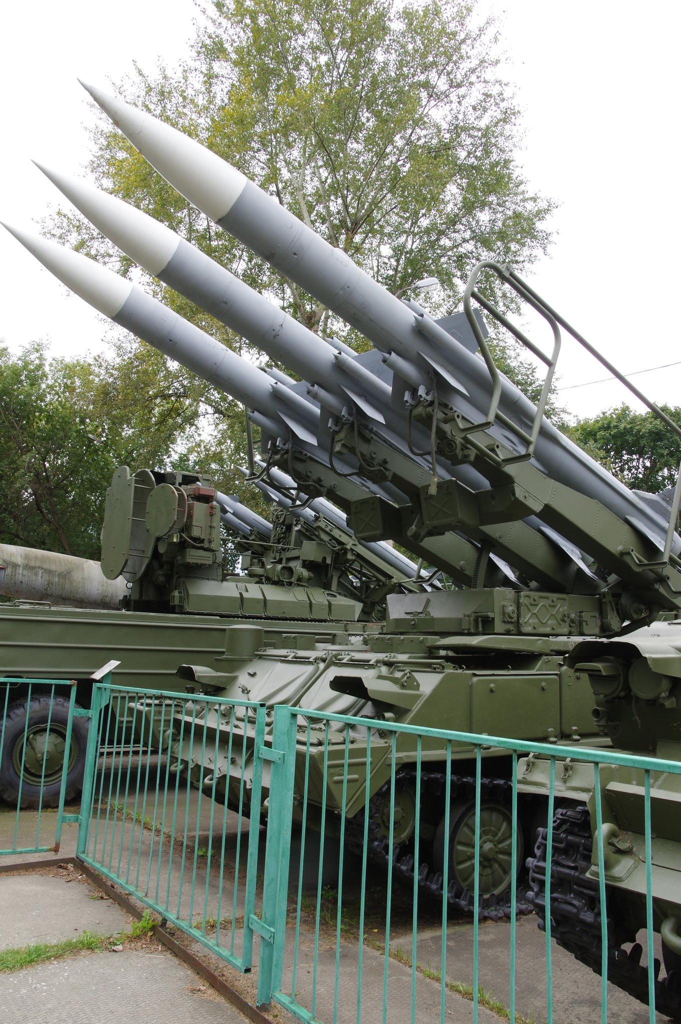 Зенитно-ракетный комплекс «Куб» в экспозиции Центрального музея Вооружённых сил Российской Федерации