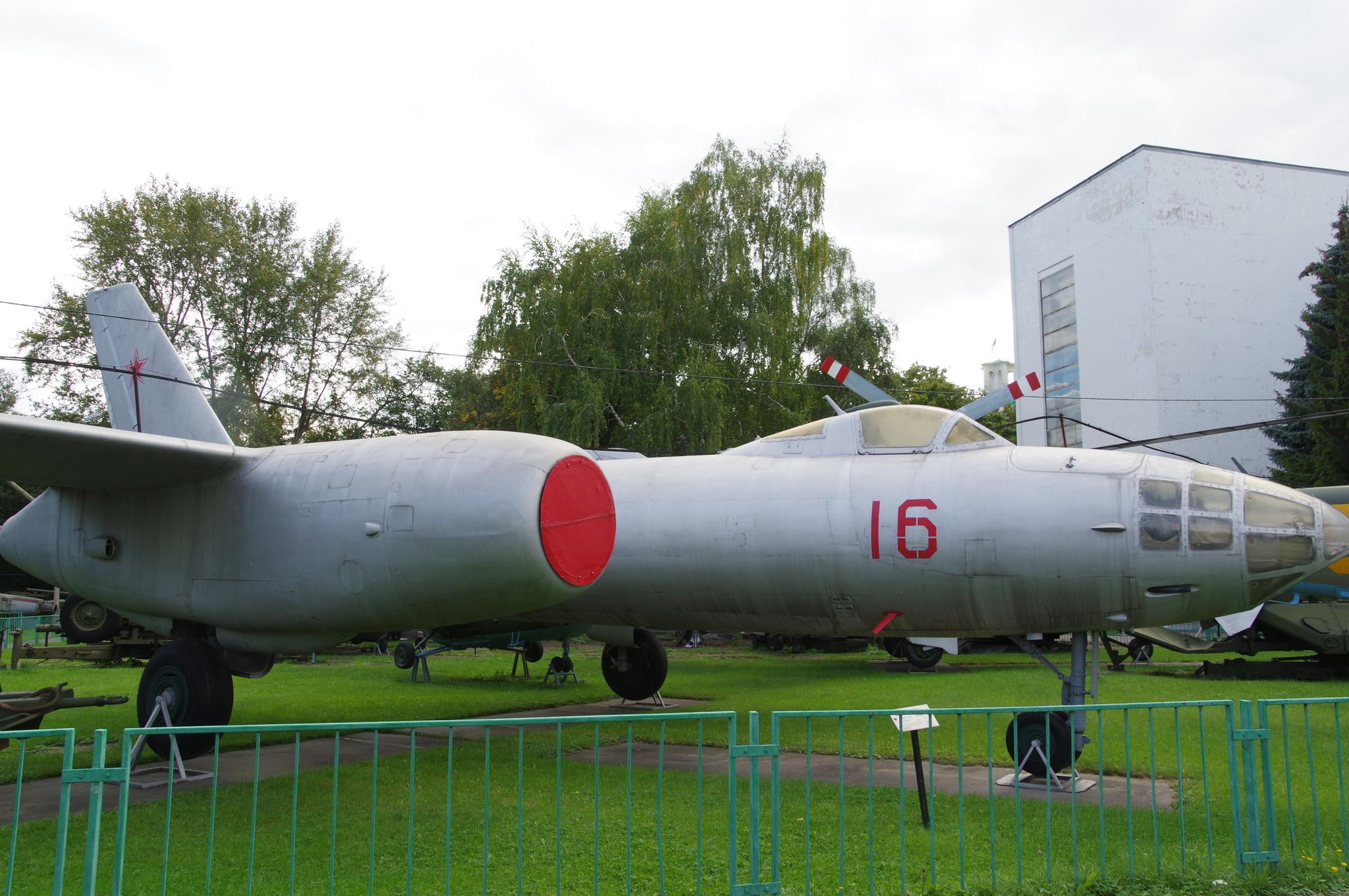 Фронтовой бомбардировщик Ил-28 в экспозиции Центрального музея Вооружённых сил Российской Федерации