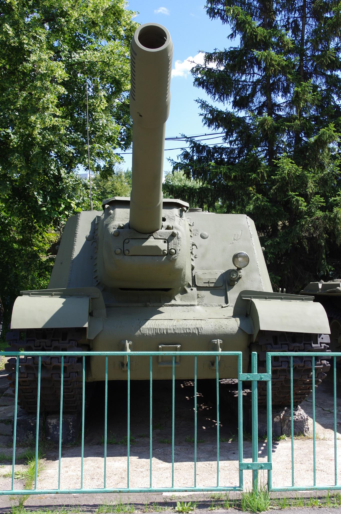 Самоходная установка ИСУ-152 в экспозиции Центрального музея Вооружённых сил Российской Федерации Редактировать описание