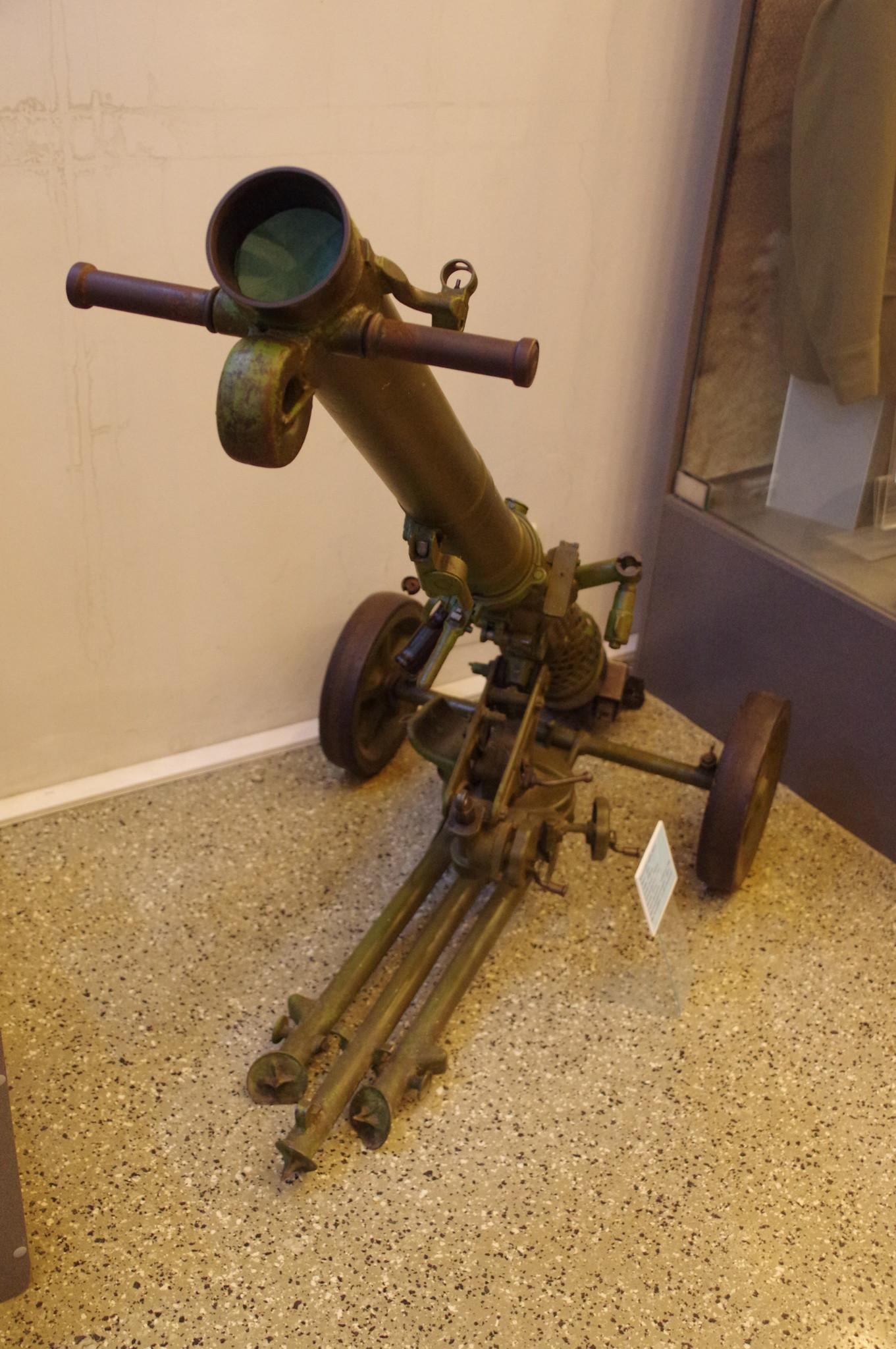 82-мм безоткатное орудие Б-10 в экспозиции Центрального музея Вооружённых сил Российской Федерации