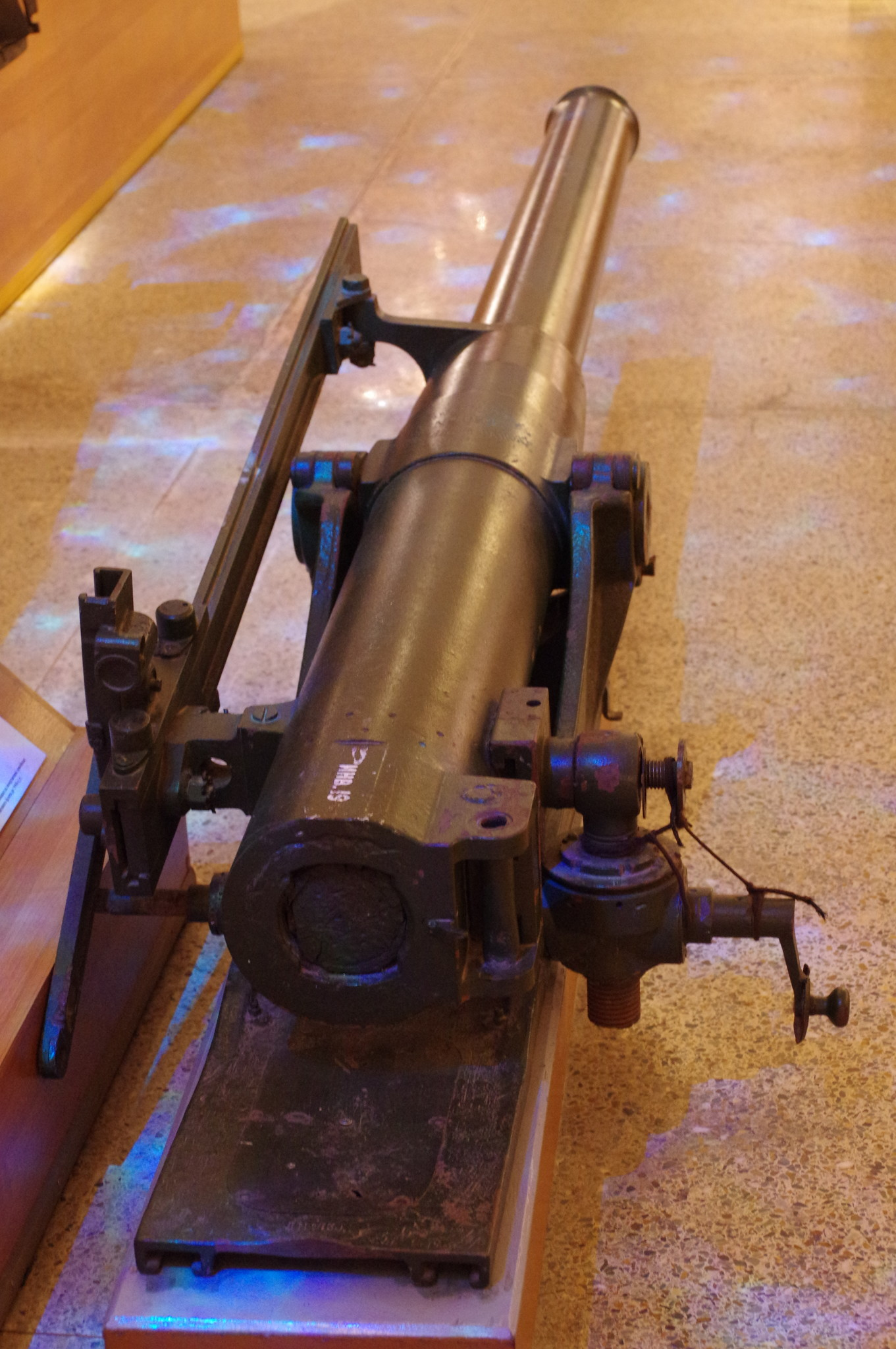 Ствол 76,2-мм полевой скорострельной пушки образца 1900 года в экспозиции Центрального музея Вооружённых Сил Российской Федерации