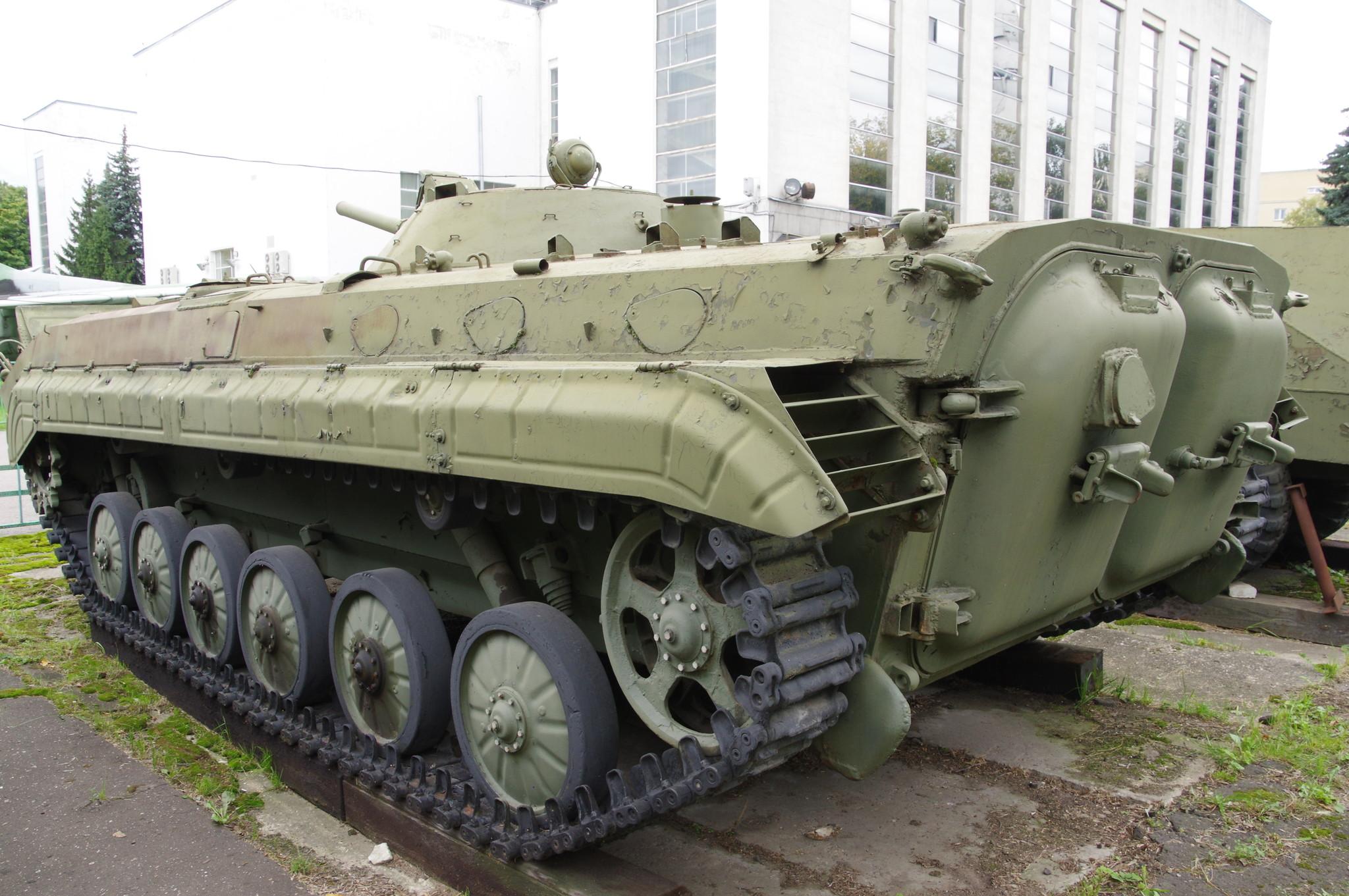 Боевая машина пехоты БМП-1 в экспозиции Центрального музея Вооружённых сил Российской Федерации