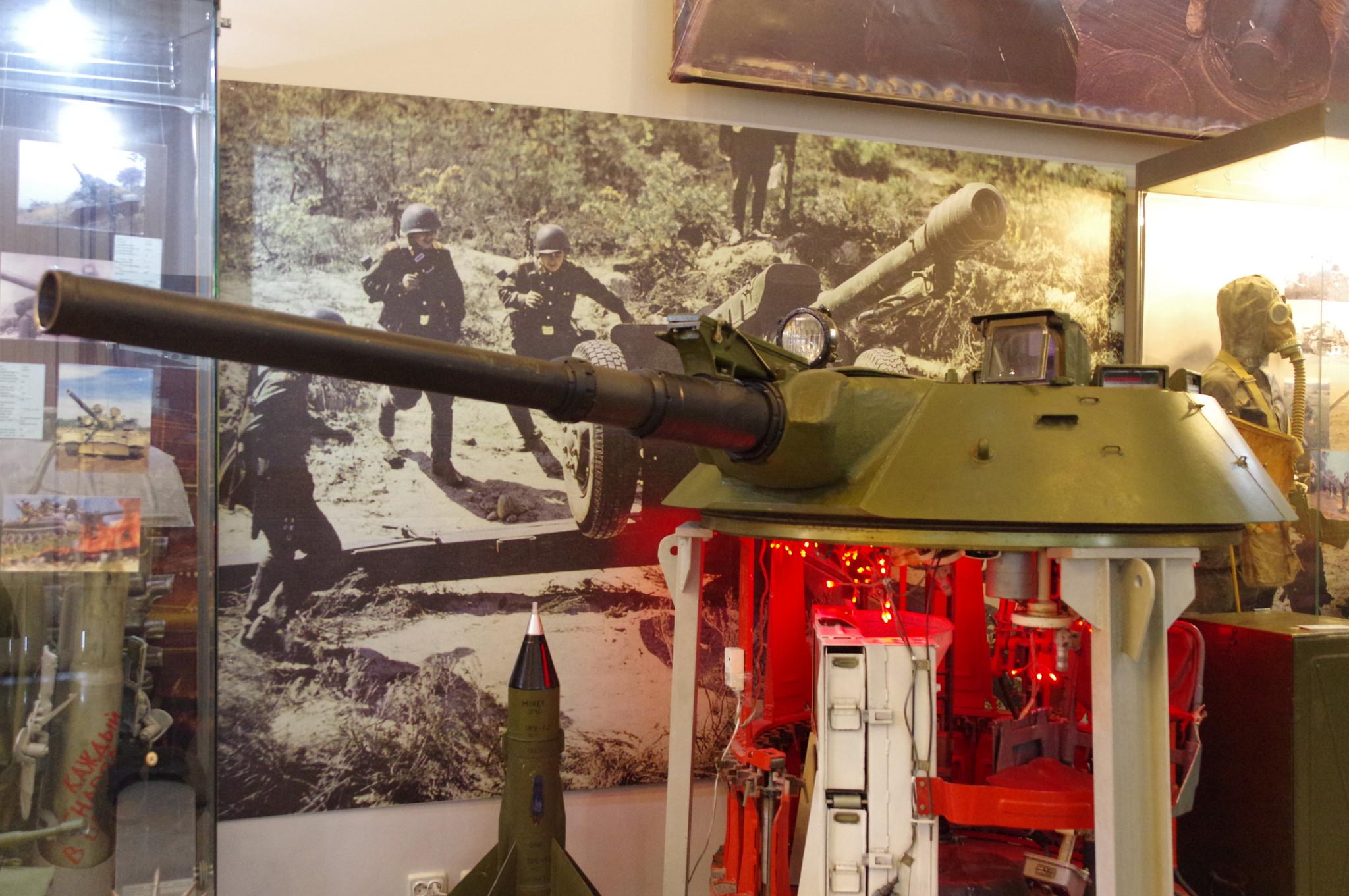 Башня боевой машины пехоты БМП-1 (учебная) в экспозиции Центрального музея Вооружённых сил Российской Федерации