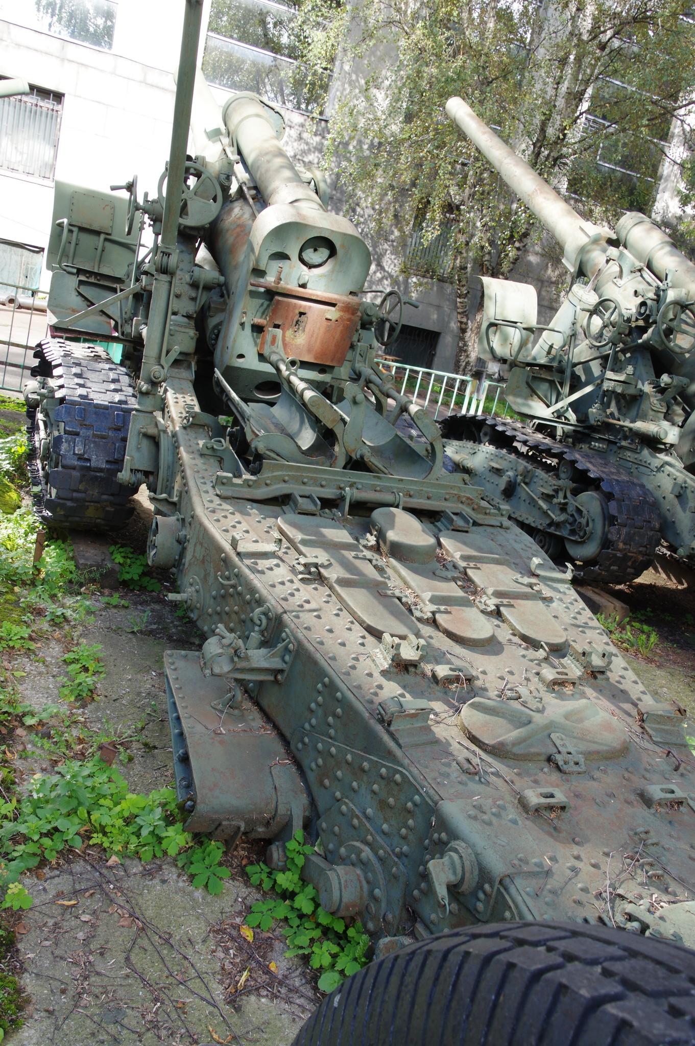203-мм гаубица большой мощности Б-4 образца 1931 года в экспозиции Центрального музея Вооружённых сил Российской Федерации