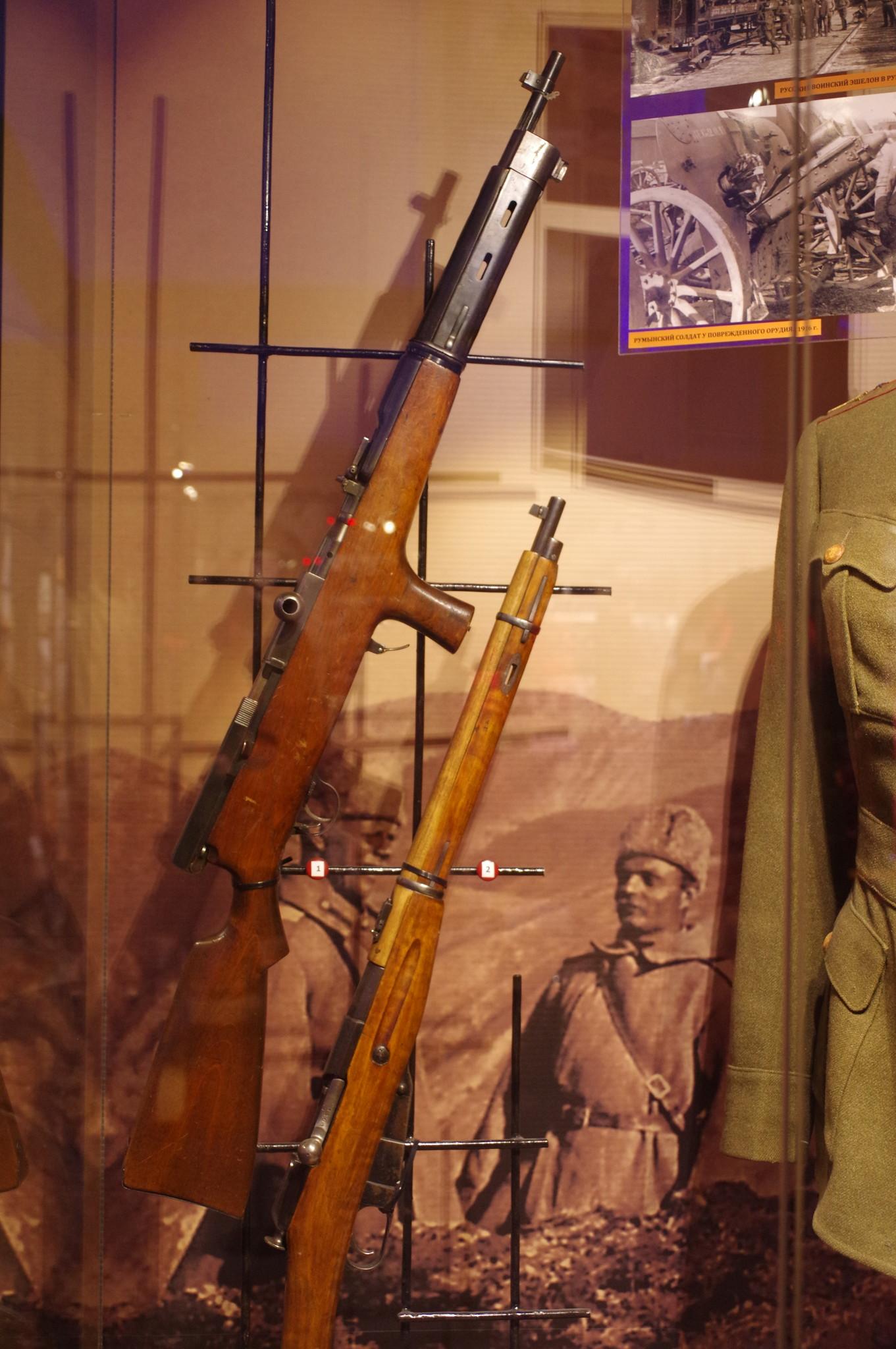 6,5 мм автомат системы Фёдорова образца 1916 года в экспозиции Центрального музея Вооружённых сил Российской Федерации