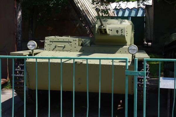 Малый плавающий танк Т-38 в Центральном музее Вооруженных сил Российской Федерации (улица Советской Армии, 2)