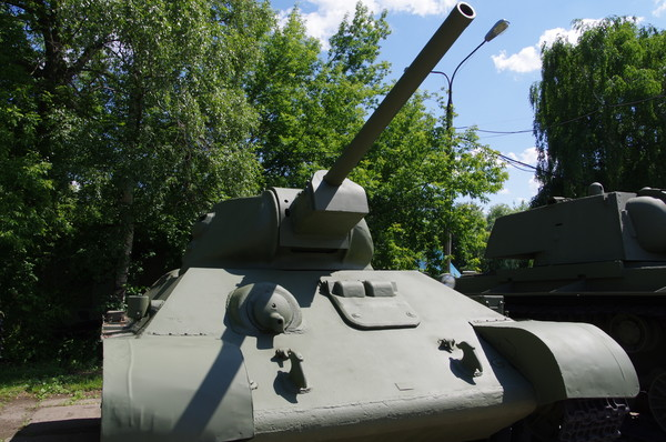 Средний танк Т-34 в Центральном музее Вооруженных Сил