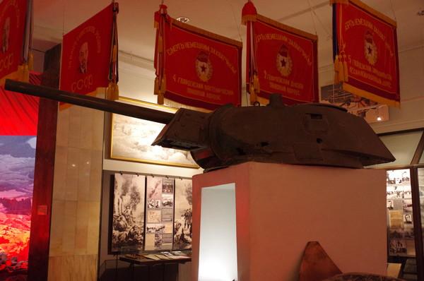 Башня Т-34-76 с пушкой Ф-34, участвовавшего в Сталинградской битве (Центральный музей Вооружённых сил Российской Федерации)