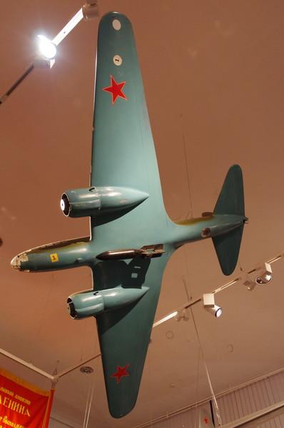 Дальний бомбардировщик Ил-4 (ДБ-3Ф). Модель. Масштаб 1:10 в экспозиции Центрального музея Вооружённых сил Российской Федерации