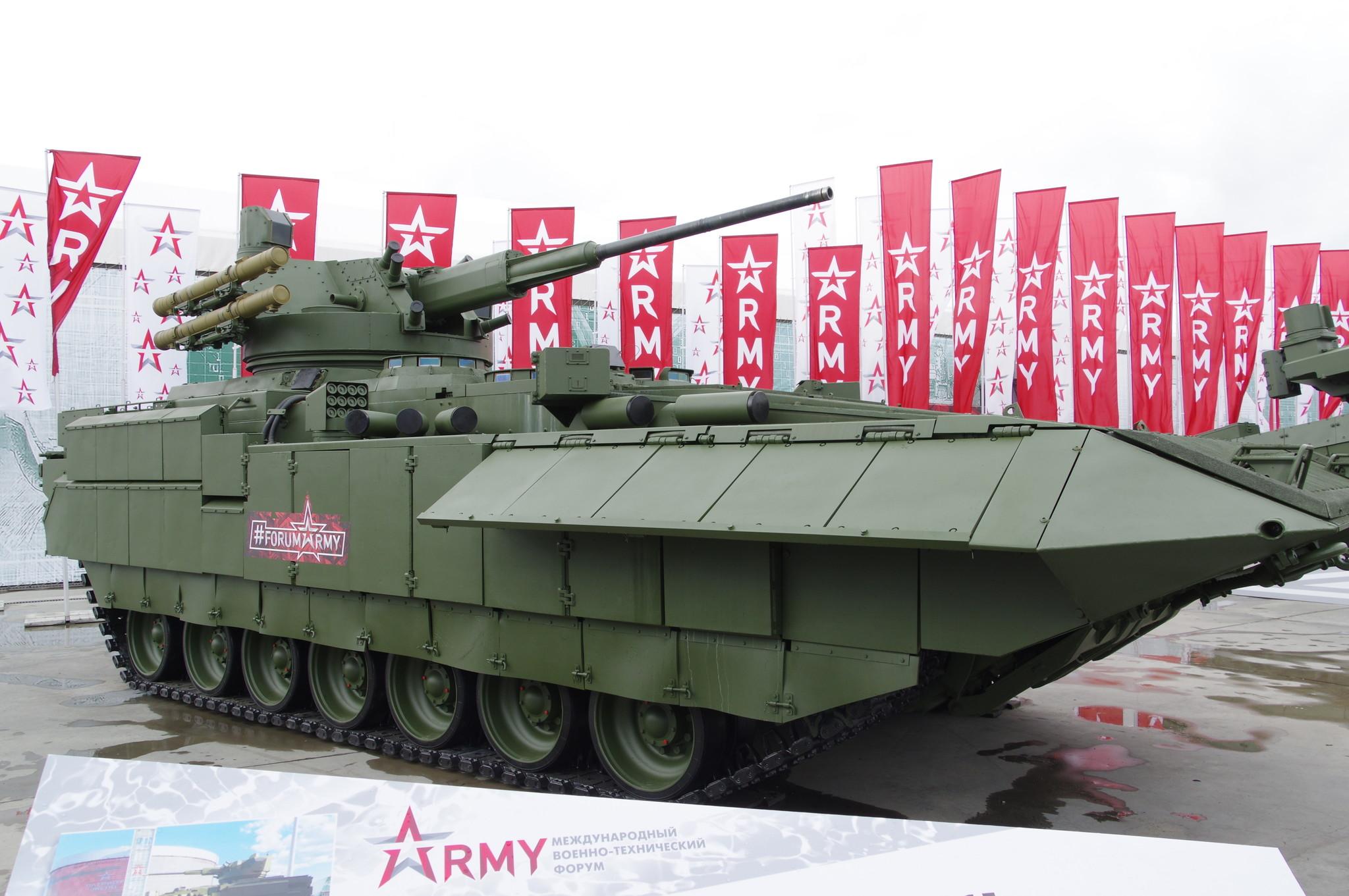 ТБМП Т-15 на перспективной тяжёлой гусеничной платформе «Армата»