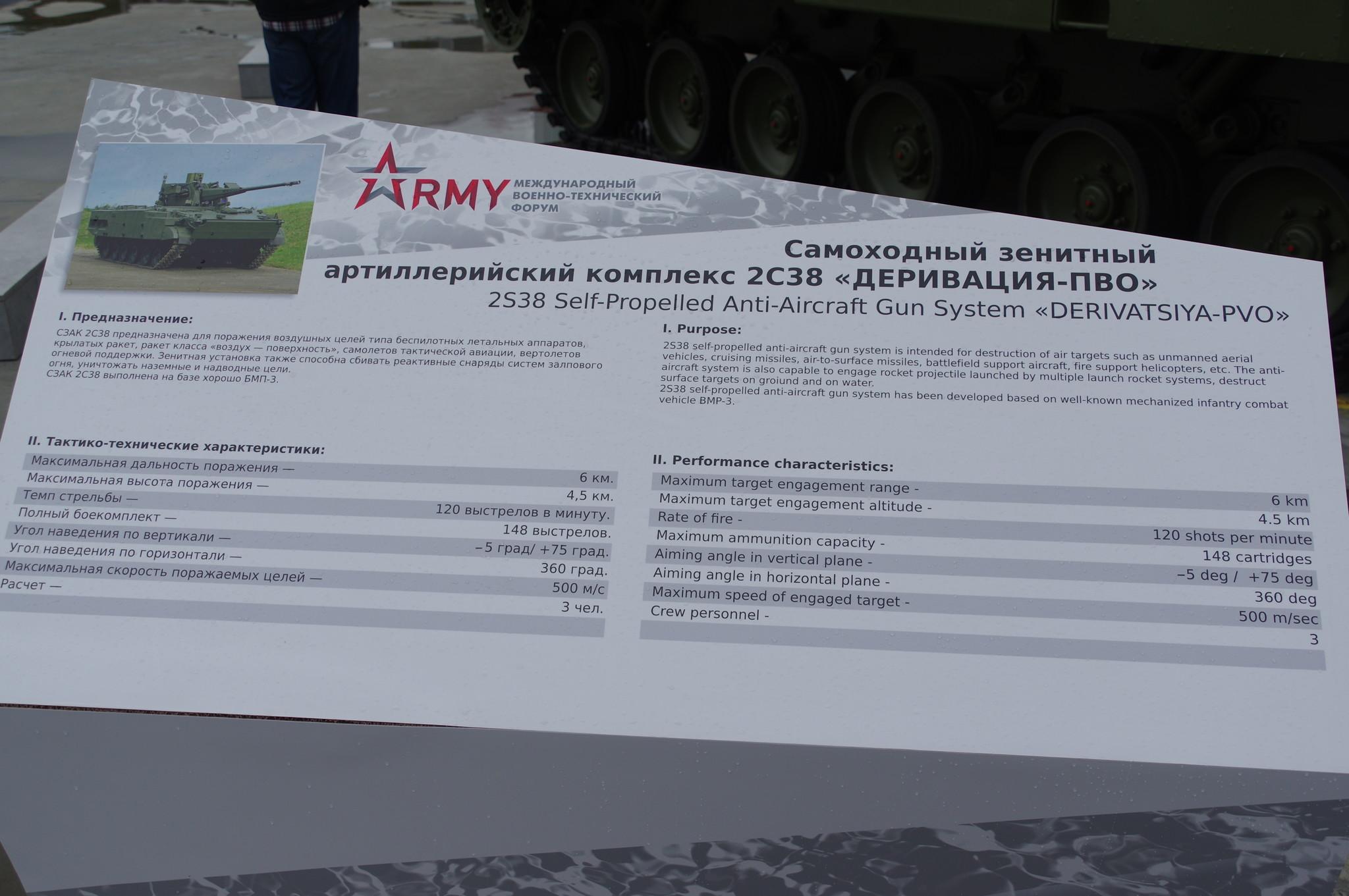 Самоходный зенитный артиллерийский комплекс 2С38 «Деривация-ПВО»