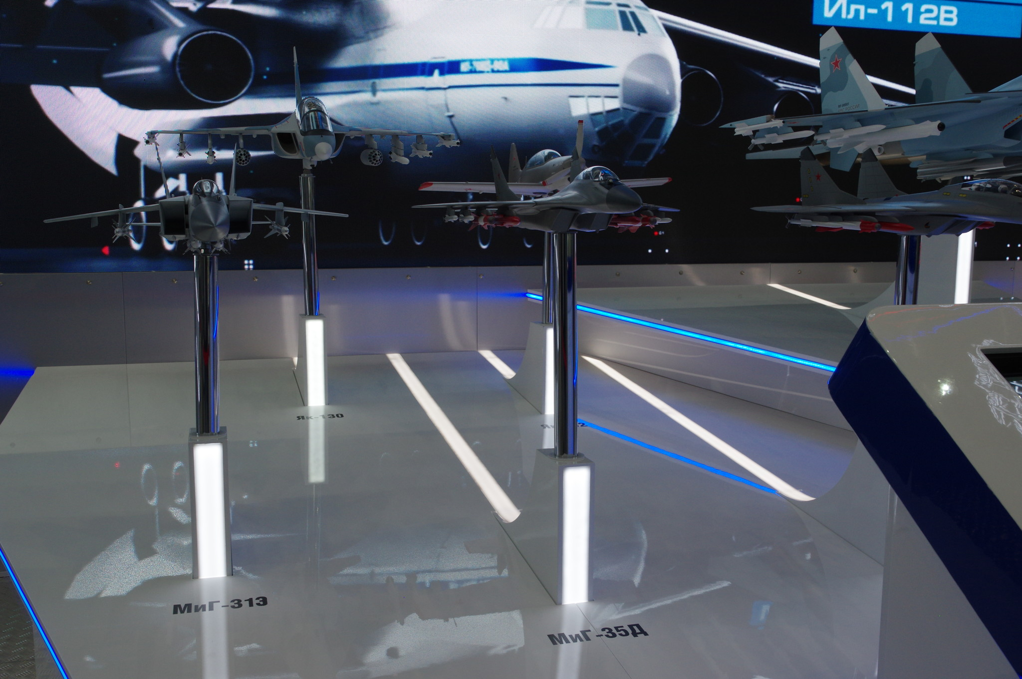 Модели самолётов МиГ-35Д, МиГ-31Э и Як-130