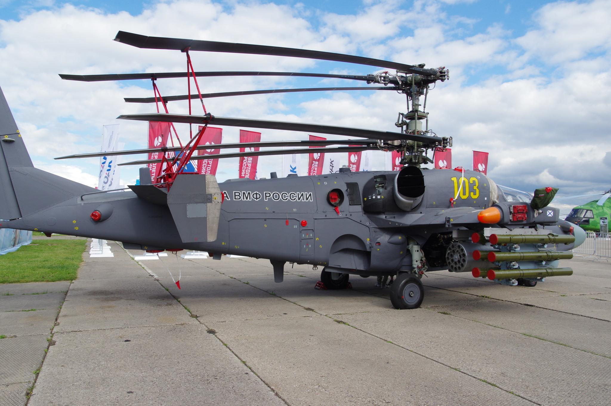 Боевой разведывательно-ударный вертолёт корабельного базировани Ка-52К