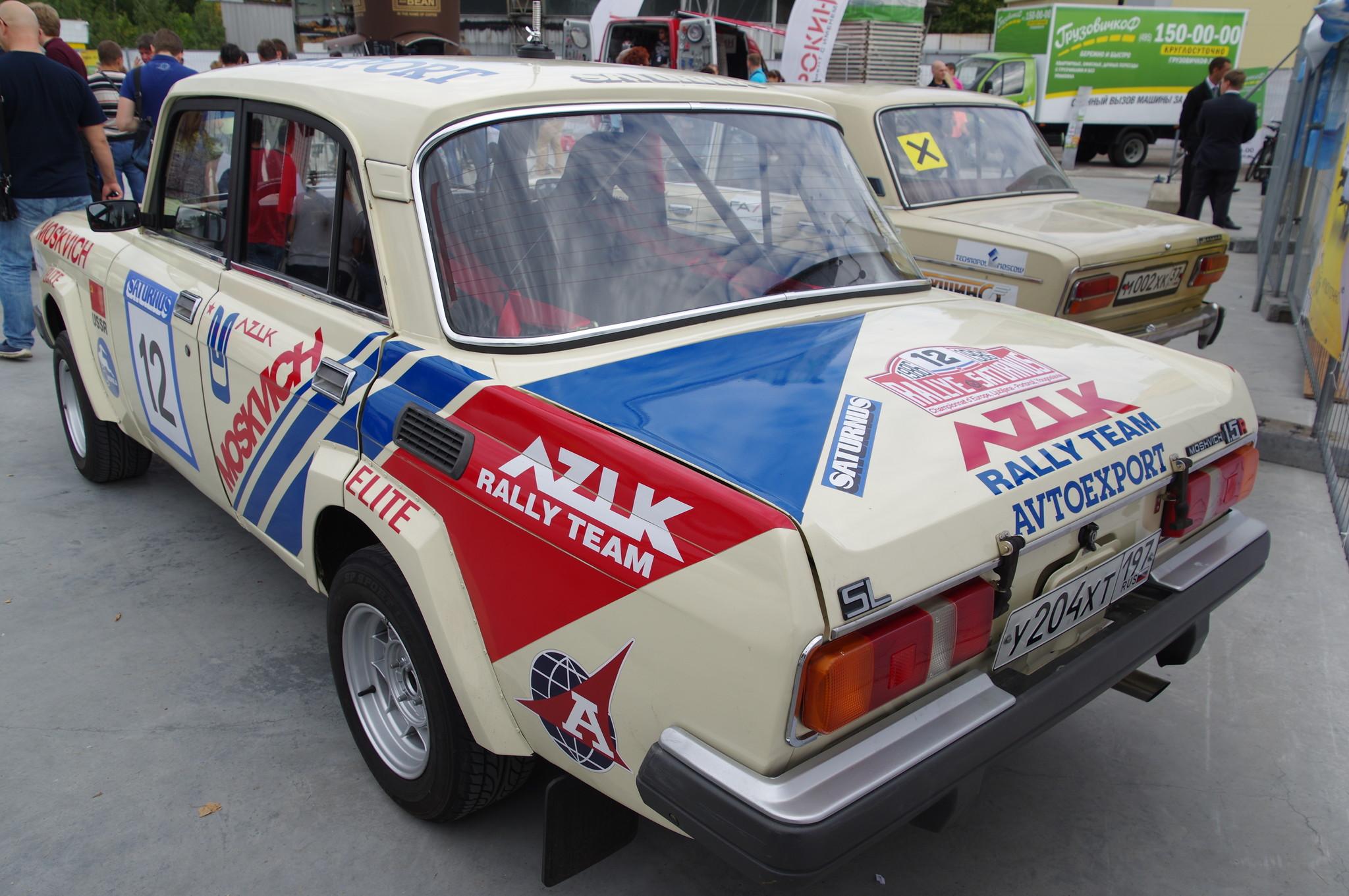 Автомобиль AZLK 1600 SL RALLYE номер 12 на югославском ралли «Сатурнус» в 1986 году