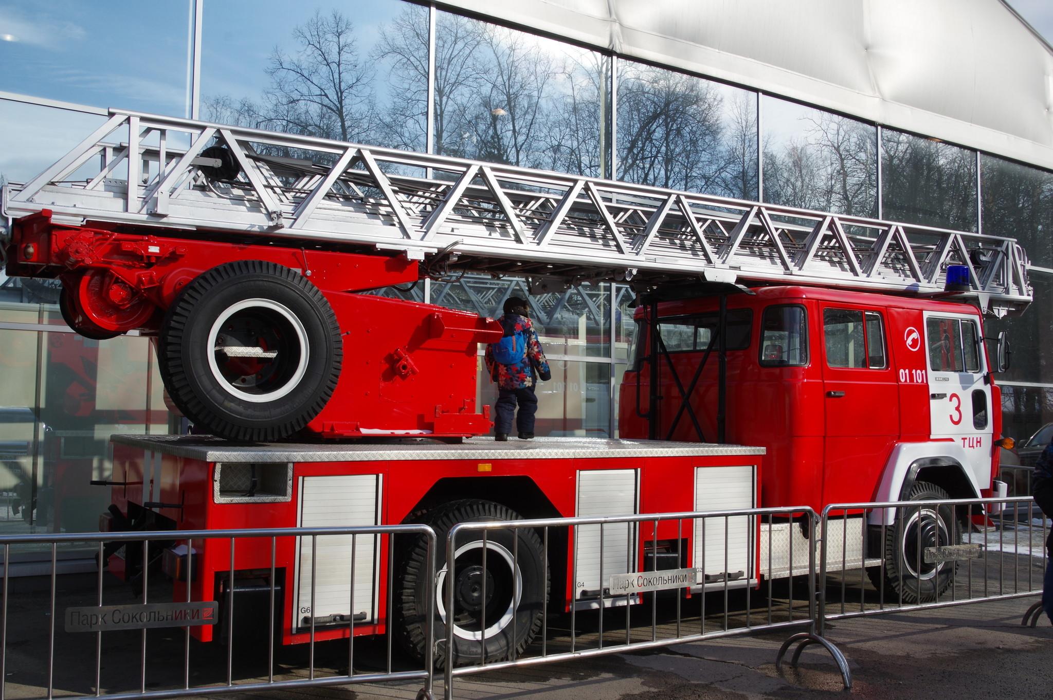 Пожарная лестница на шасси автомобиля Magirus-Deutz 232