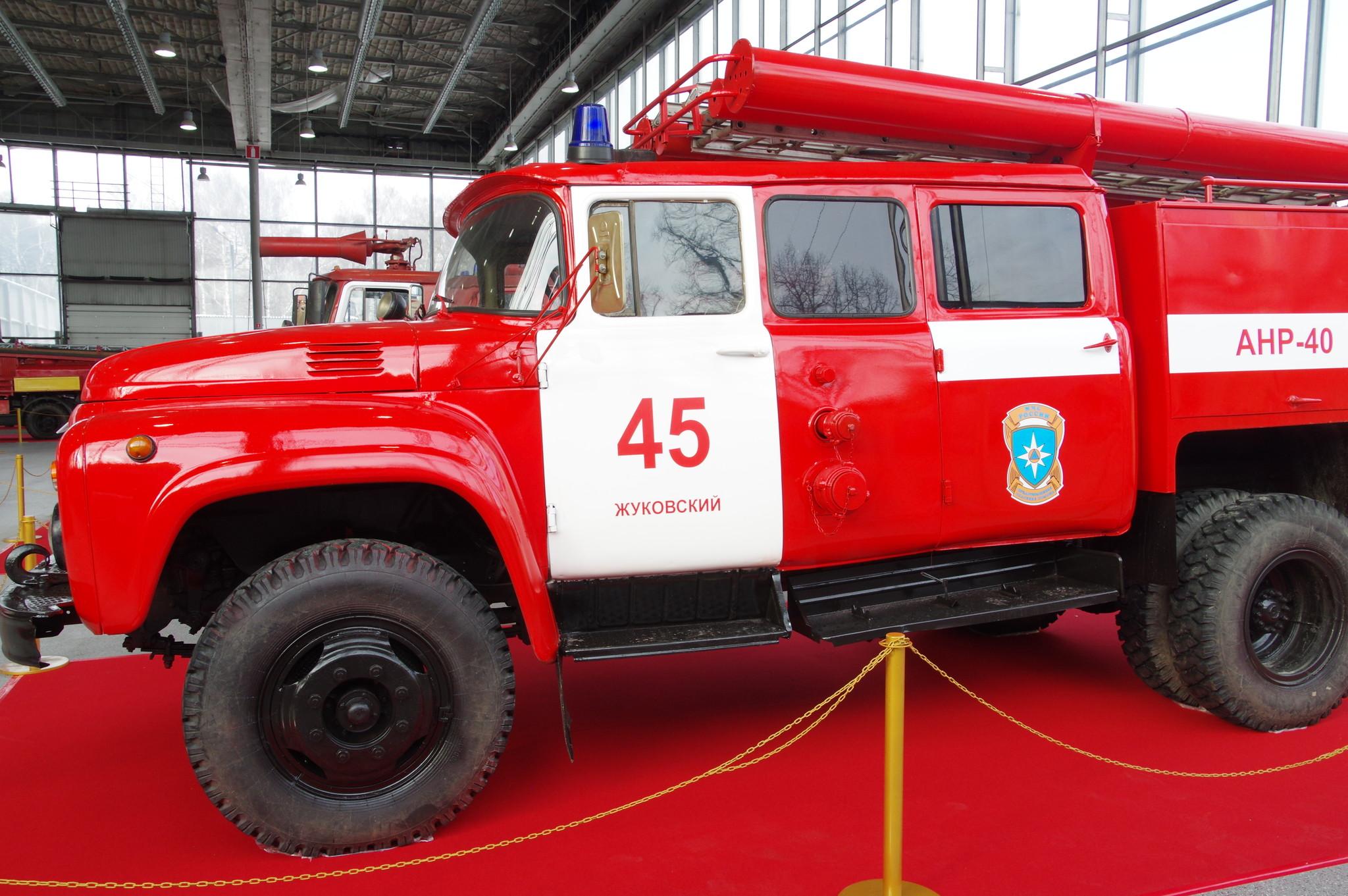 Автомобиль насосно-рукавный АНР-40(130) модель 127Б на шасси ЗИЛ-130