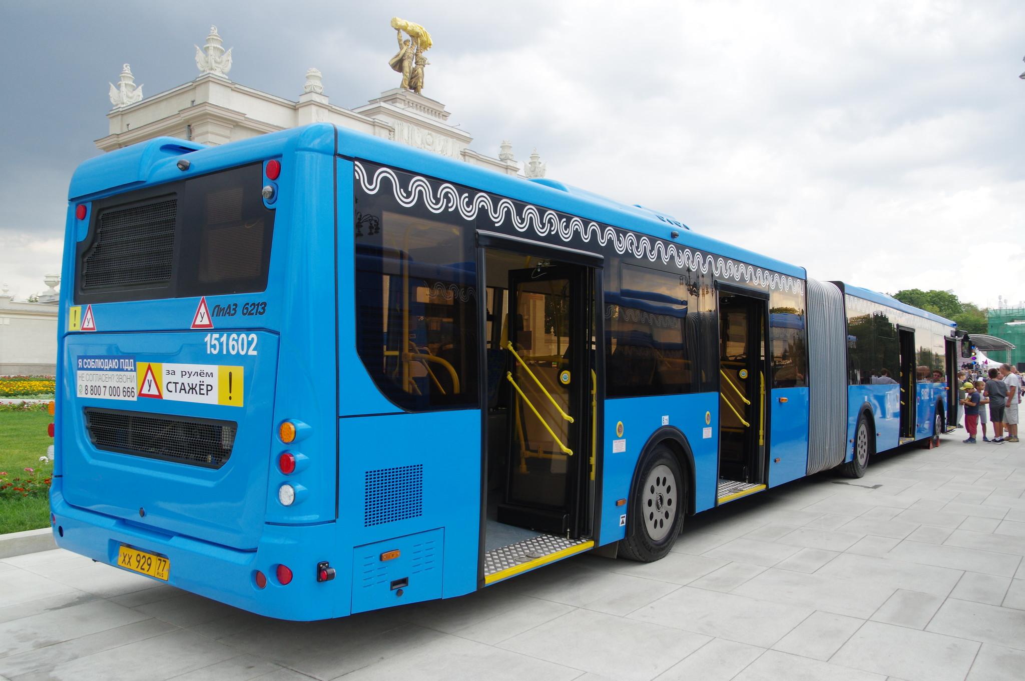 Сочленённый низкопольный городской автобус ЛиАЗ-6213