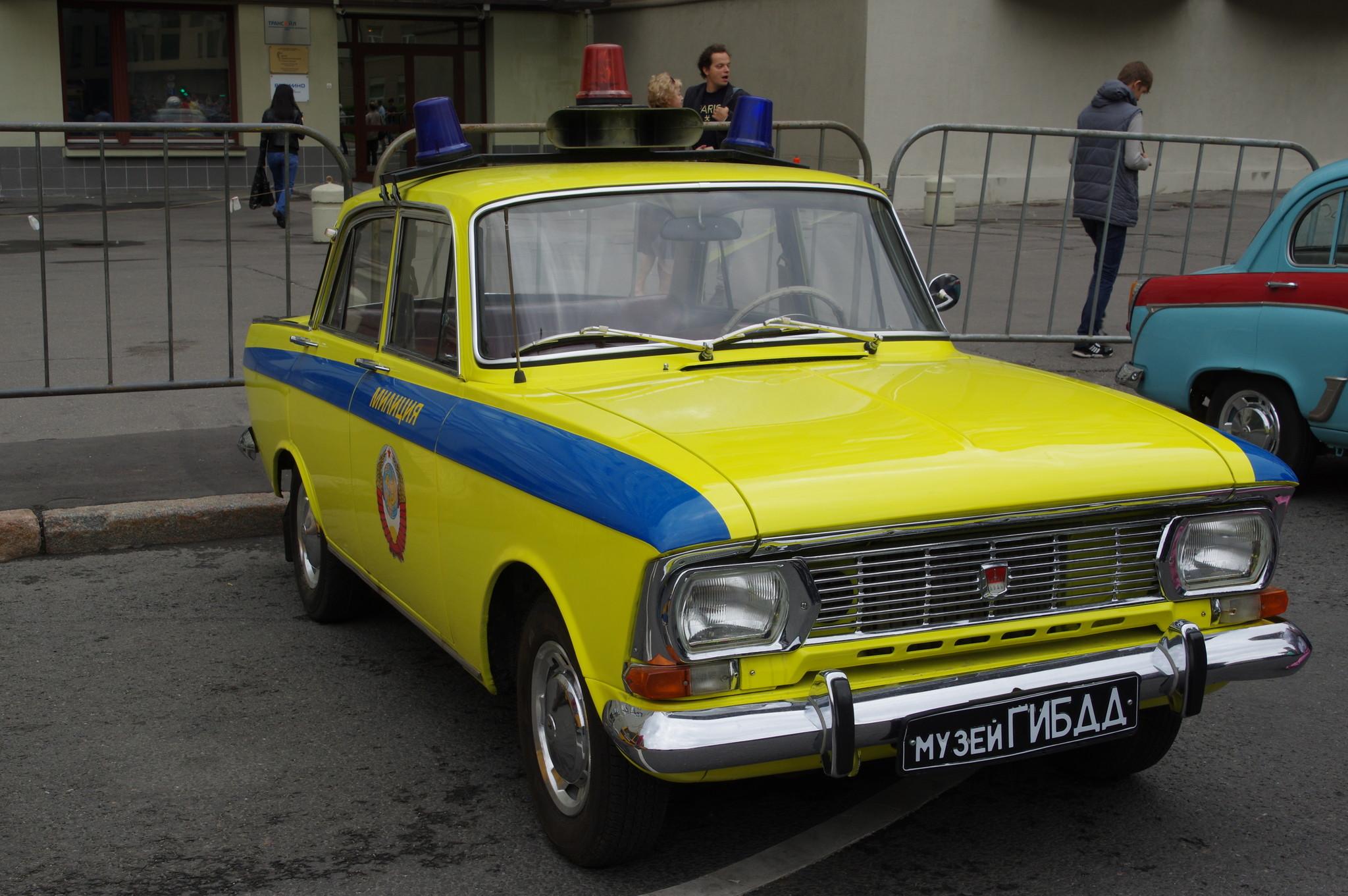 Милицейский автомобиль «Москвич» (Музей ГИБДД)