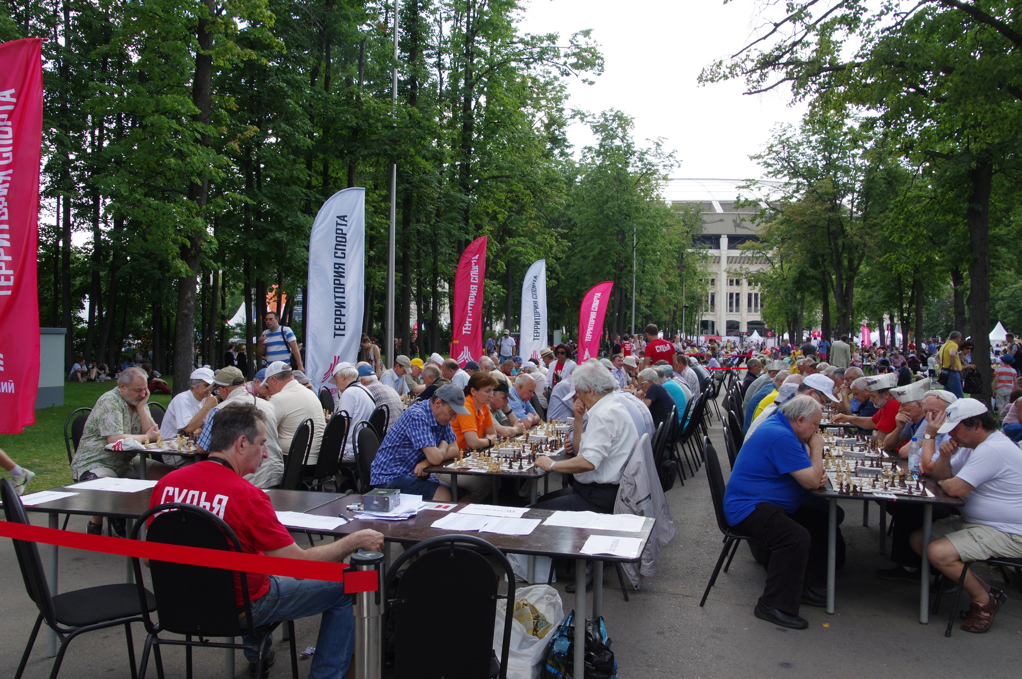 Фестиваль «Московский спорт». Шахматный турнир под открытым небом