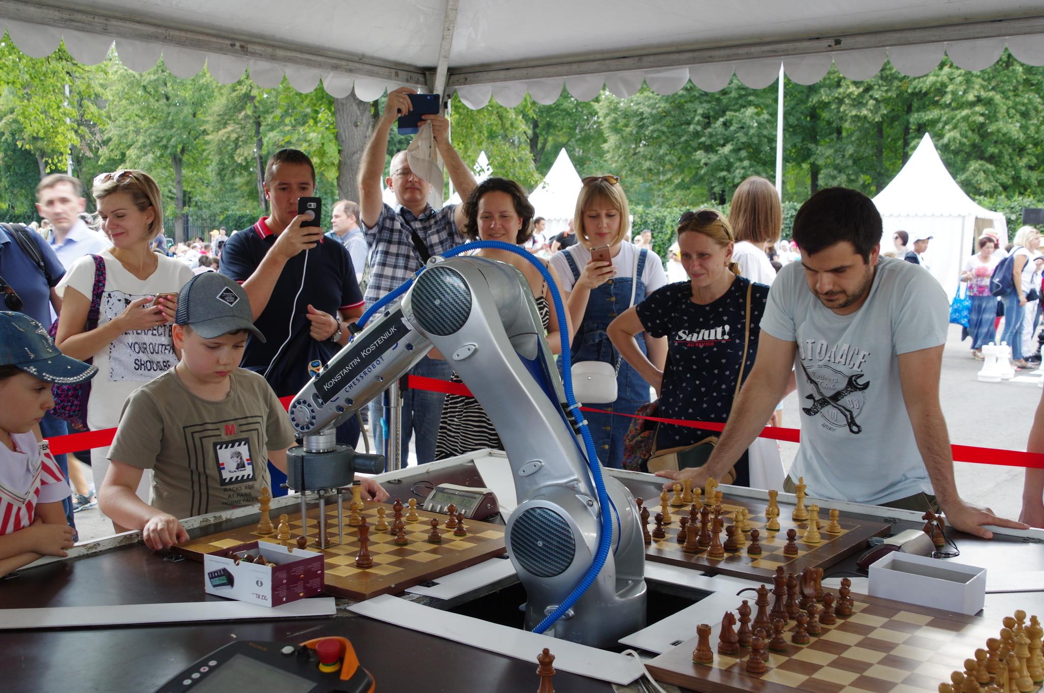 Фестиваль «Московский спорт». Шахматный турнир с роботом