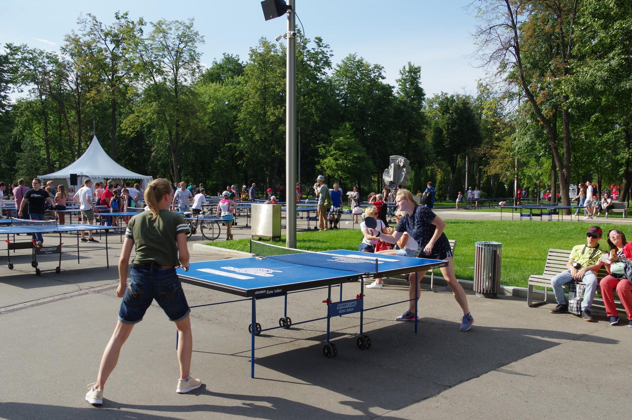 Настольный теннис в Лужниках