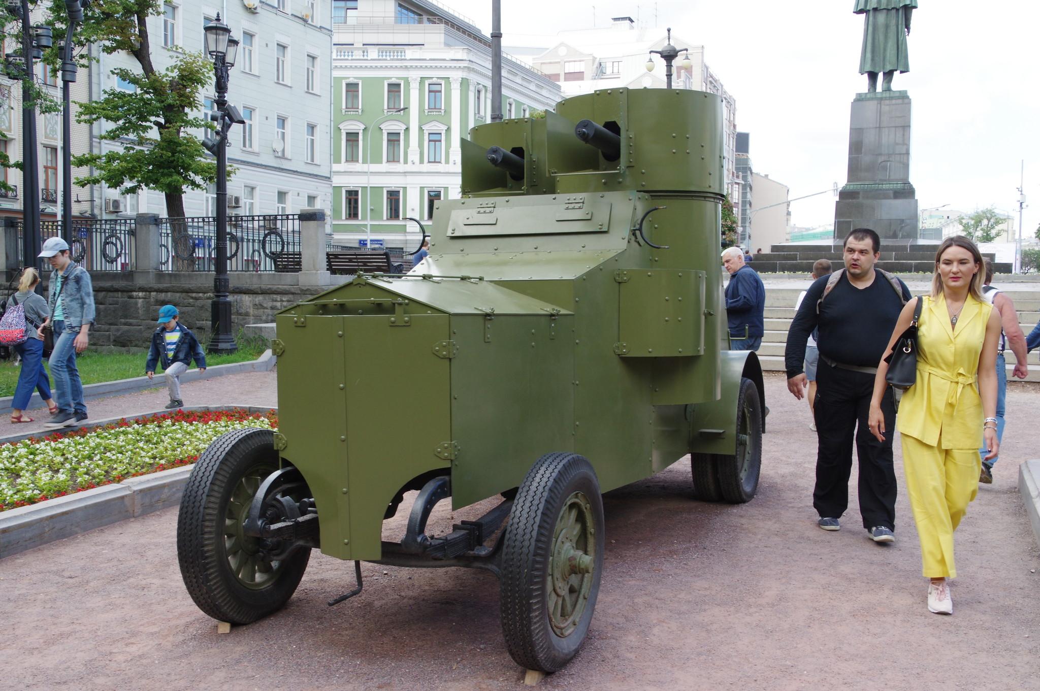 Ходовая копия бронеавтомобиля «Фиат-Ижора» образца 1917 года