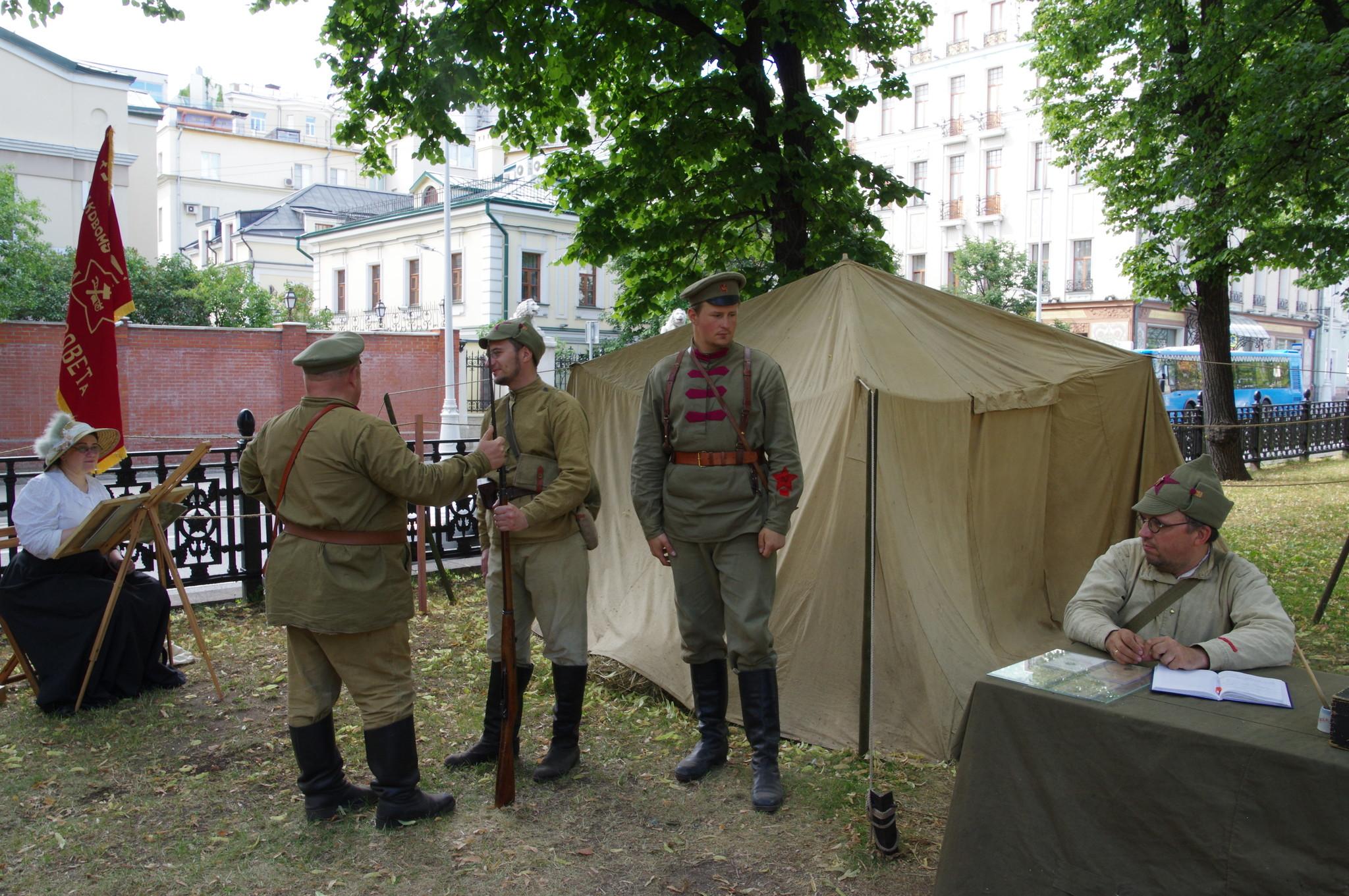 Фестиваль исторических реконструкторов на Гоголевском бульваре