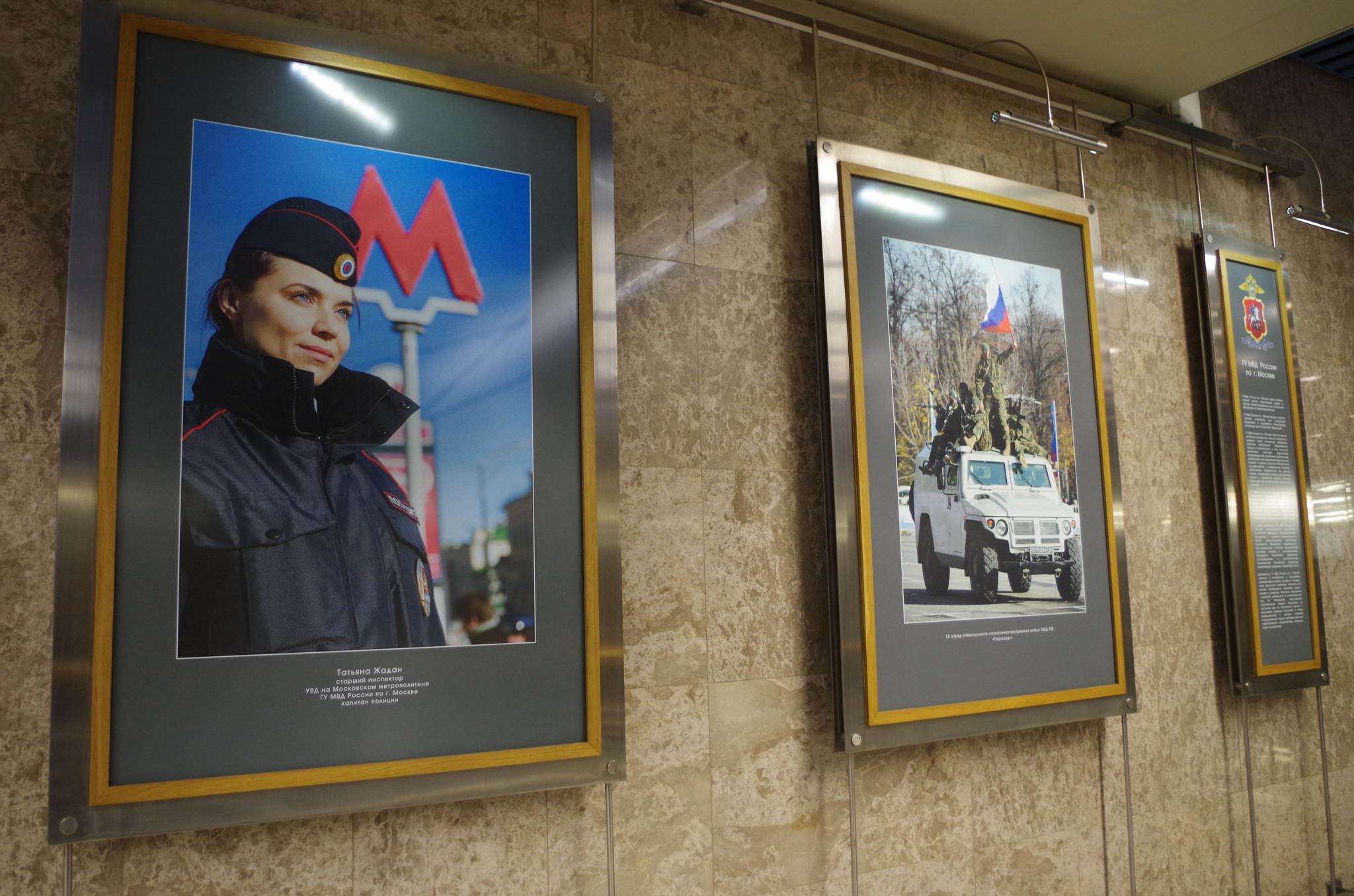 Выставка в галерее «Метро» на станции «Выставочная» Московского метрополитена. Февраль 2014 г.