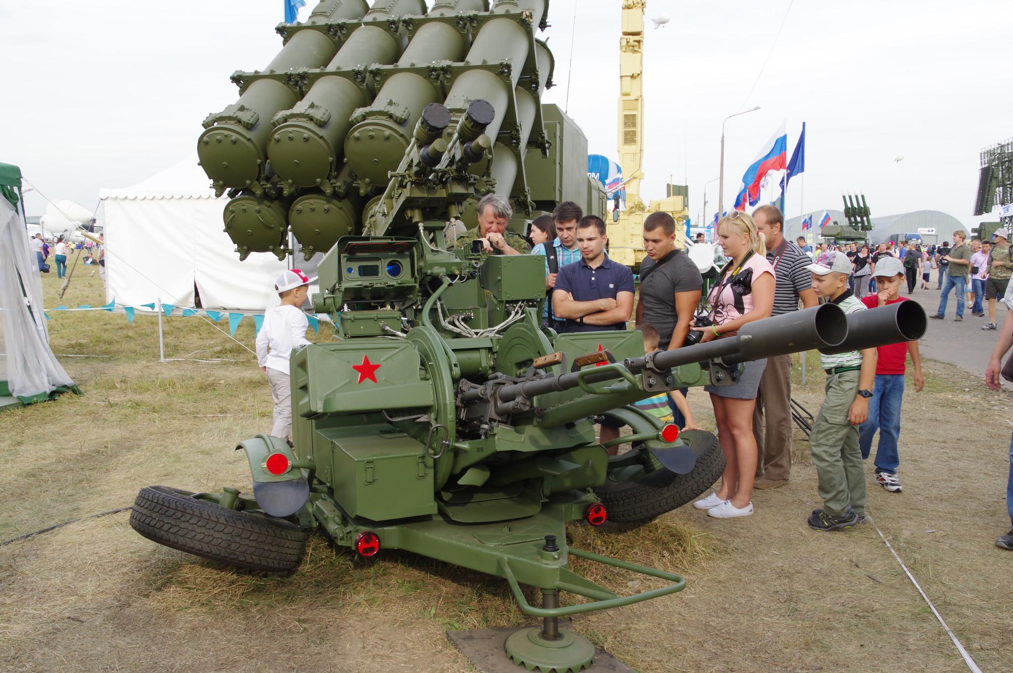 Зенитная ракетно-пушечная установка ЗУ-23/30М1-3 в боевом положении