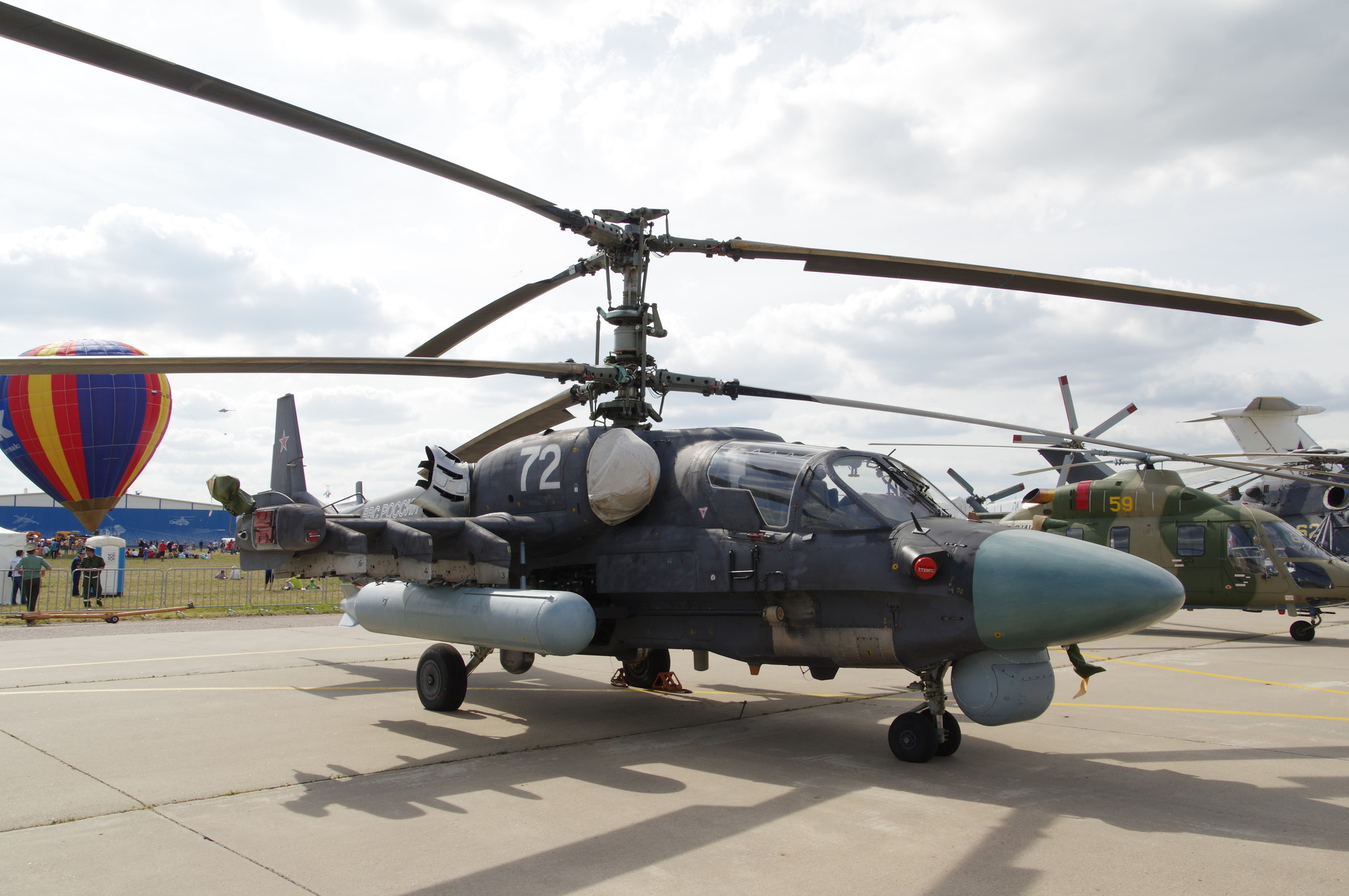 Боевой разведывательно-ударный вертолёт Ка-52 «Аллигатор»