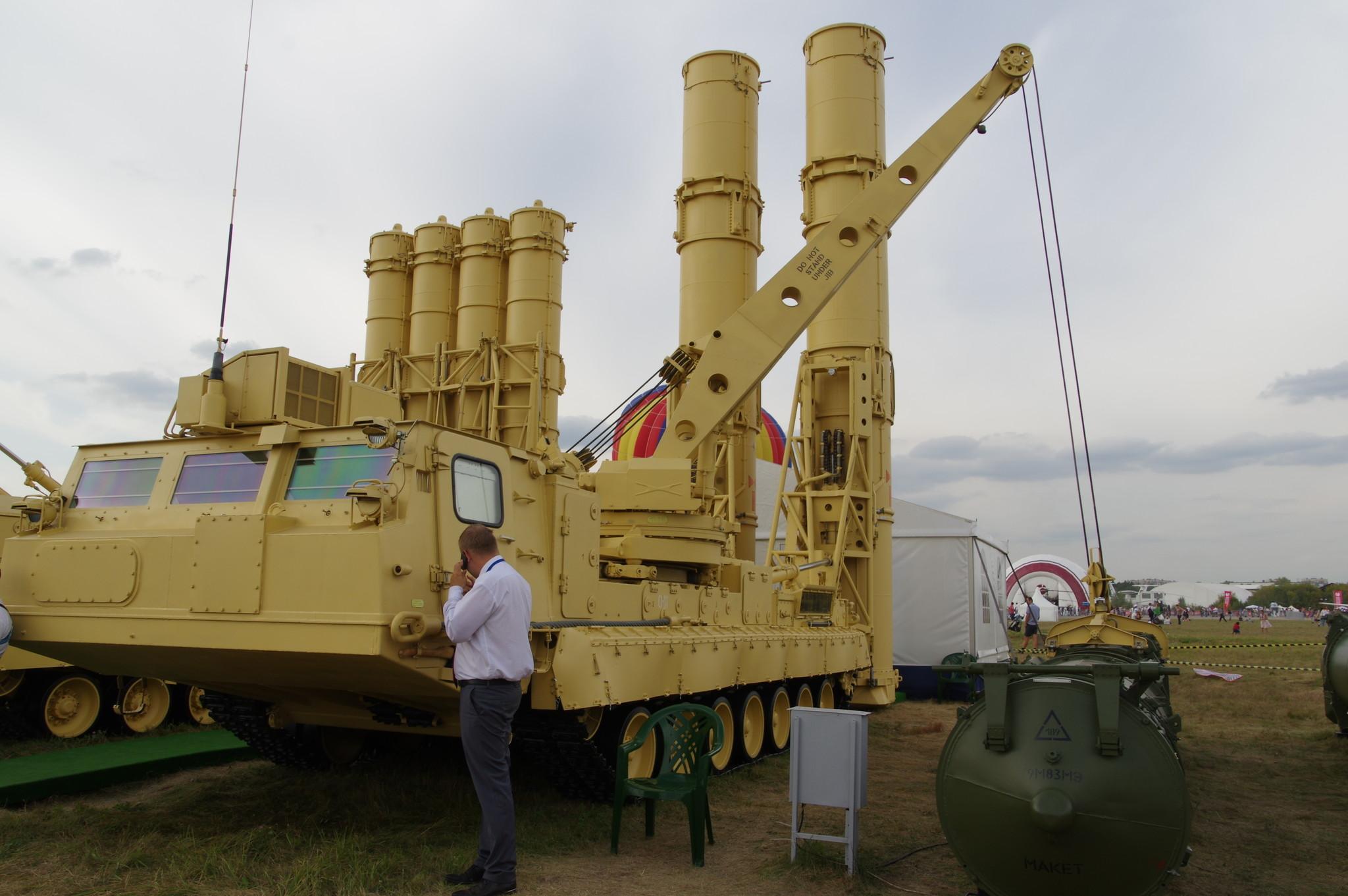 Пускозаряжающая установка ПЗУ 9А84МЭ из состава ЗРС «Антей-2500»