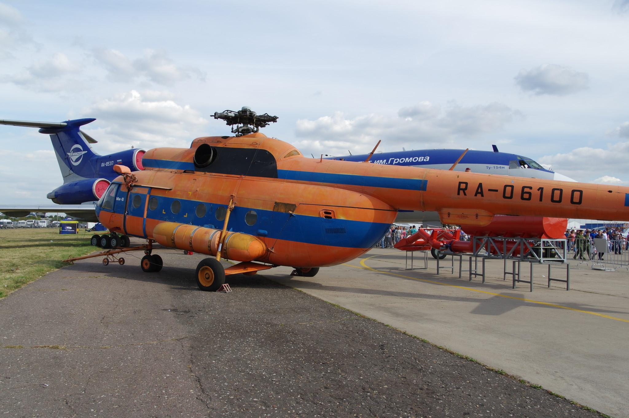 Летающая лаборатория Ми-8Т модель-демонстратор системы выливной авиационной универсальной СВАУ ЛИИ МД