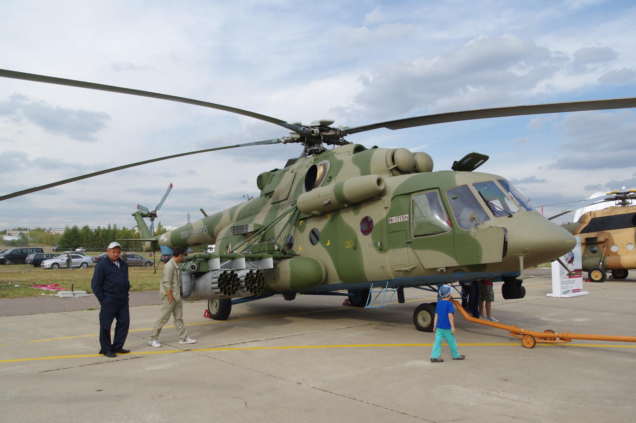 Военный транспортно-штурмовой вертолёт Ми-171Ш
