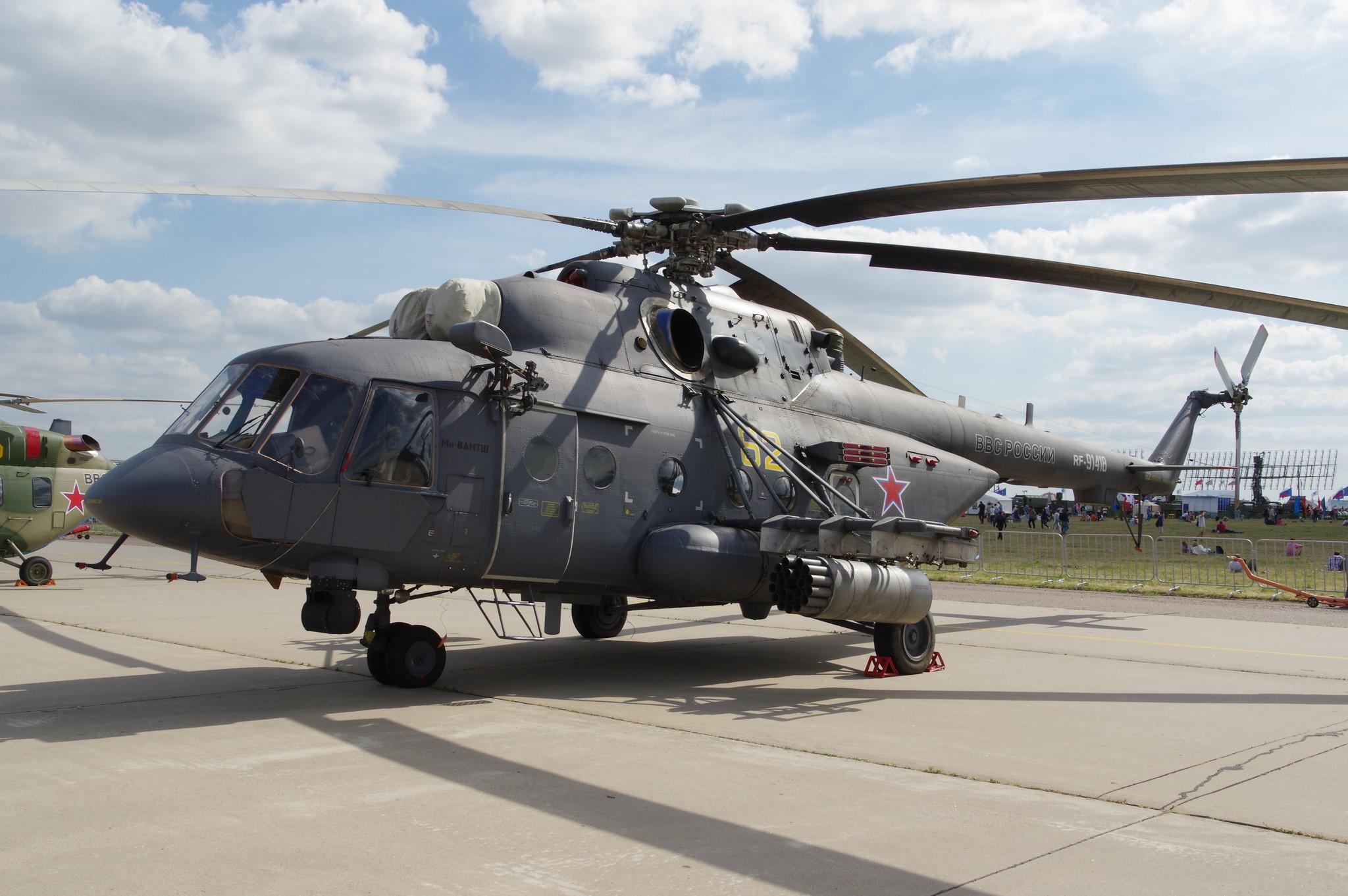 Транспортно-штурмовой вертолёт Ми-8АМТШ «Терминатор»
